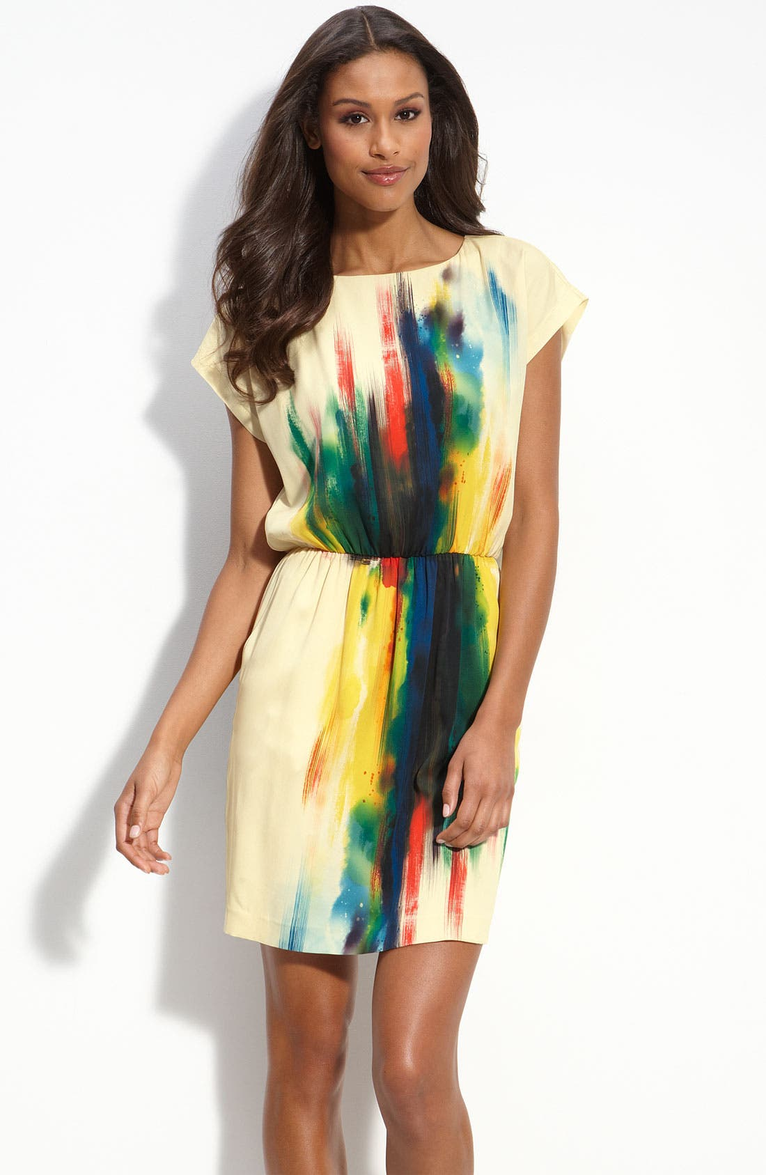 Alternate Image 1 Selected - ECI Print Charmeuse Blouson Dress