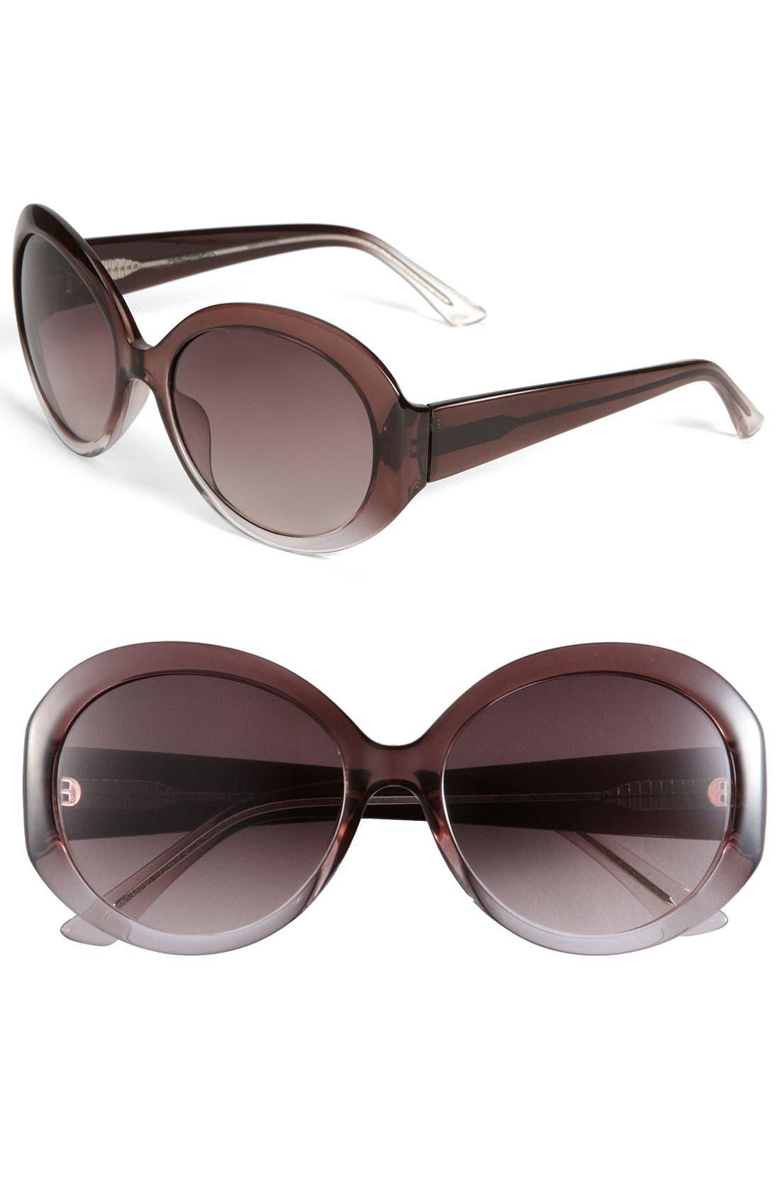 Main Image - Halogen® 'Large' Round Frame Sunglasses