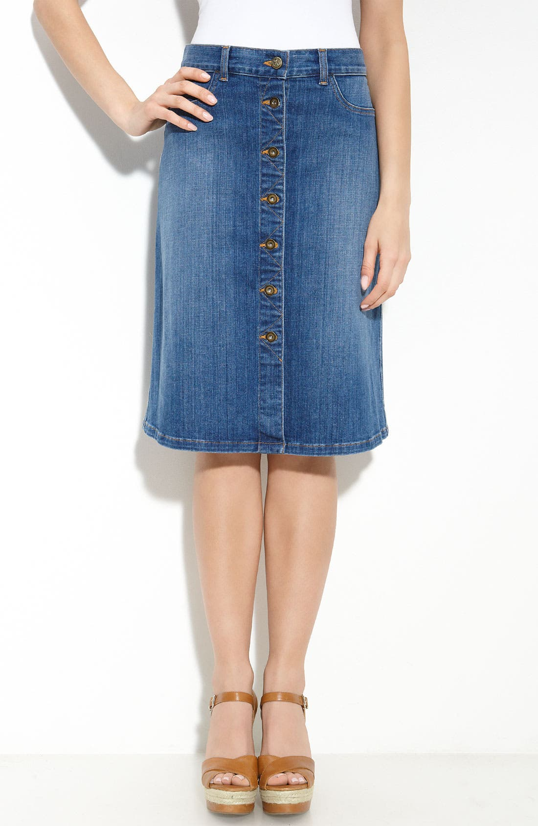 Main Image - CJ by Cookie Johnson 'Unity' Skirt (New Vintage Blue Wash)