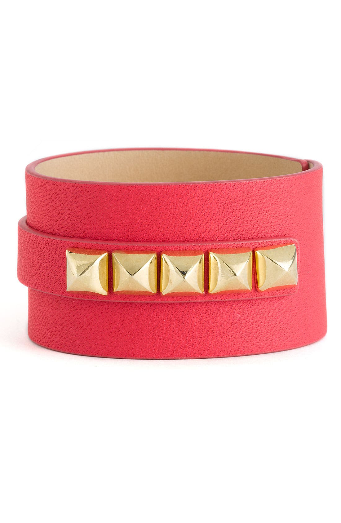 Alternate Image 1 Selected - Juicy Couture Leather Charm Cuff