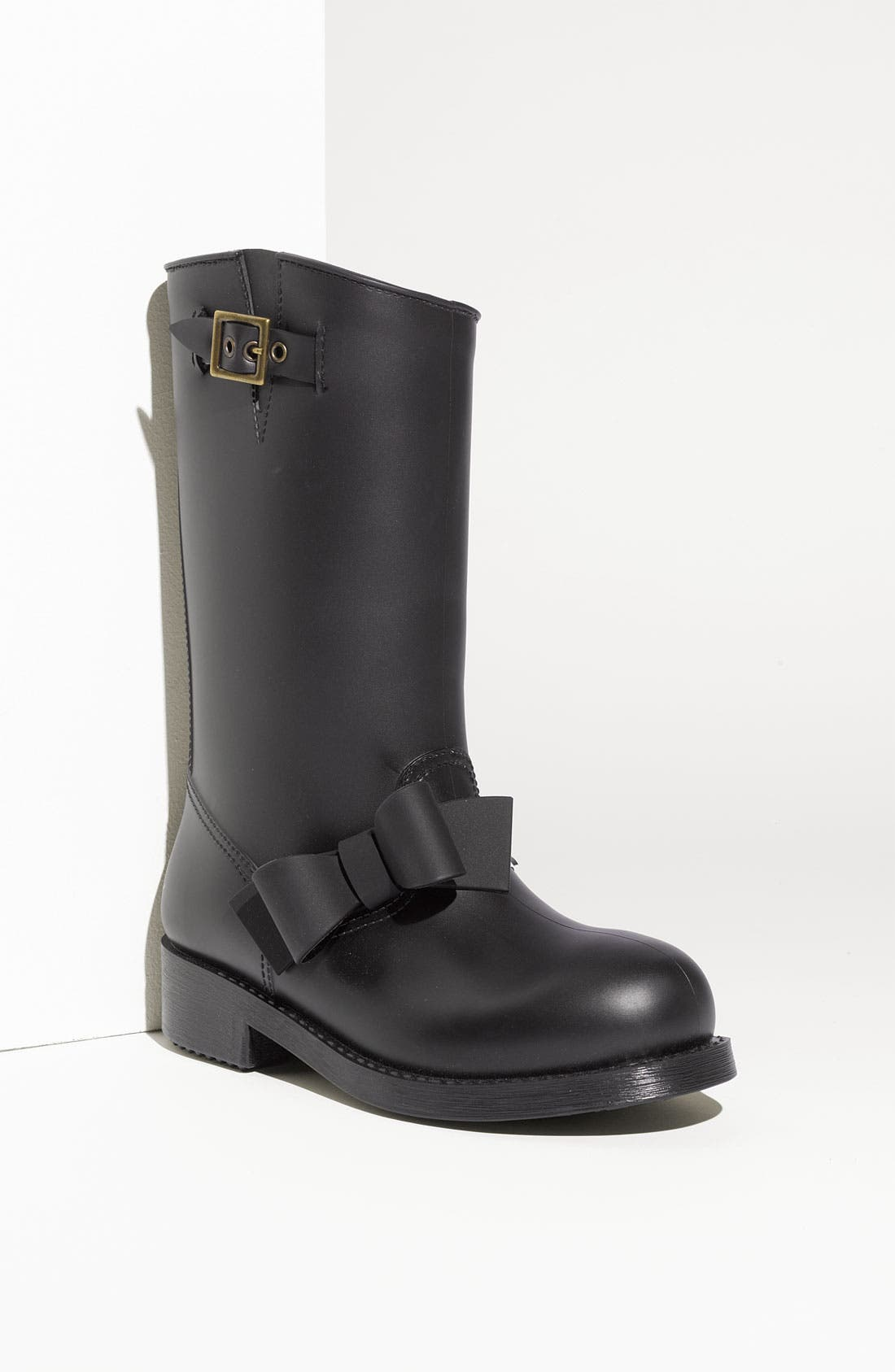Main Image - RED Valentino Bow Trim Waterproof Rain Boot (Women)