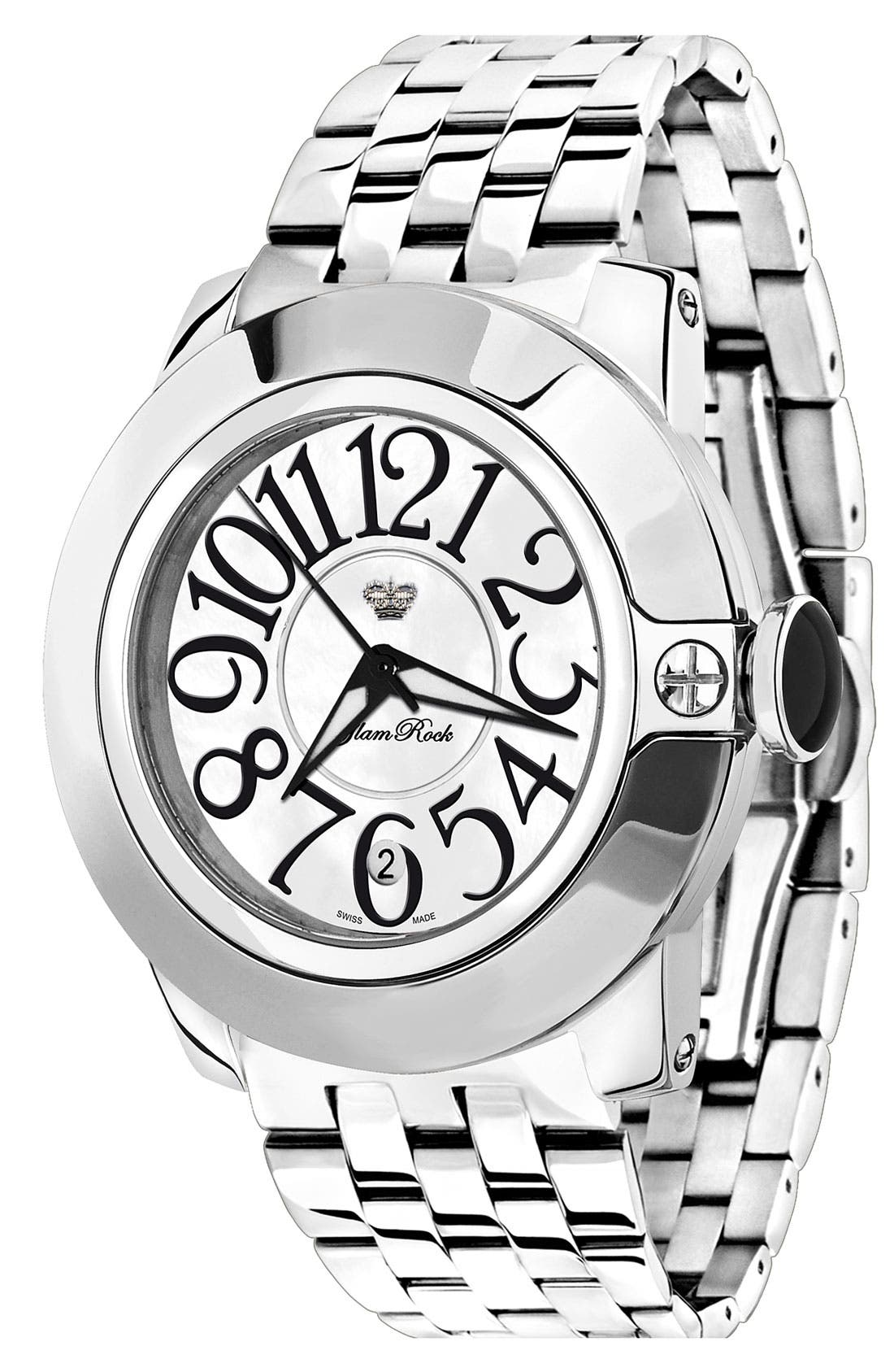 Main Image - Glam Rock 'So Be' Stainless Steel Bracelet Watch