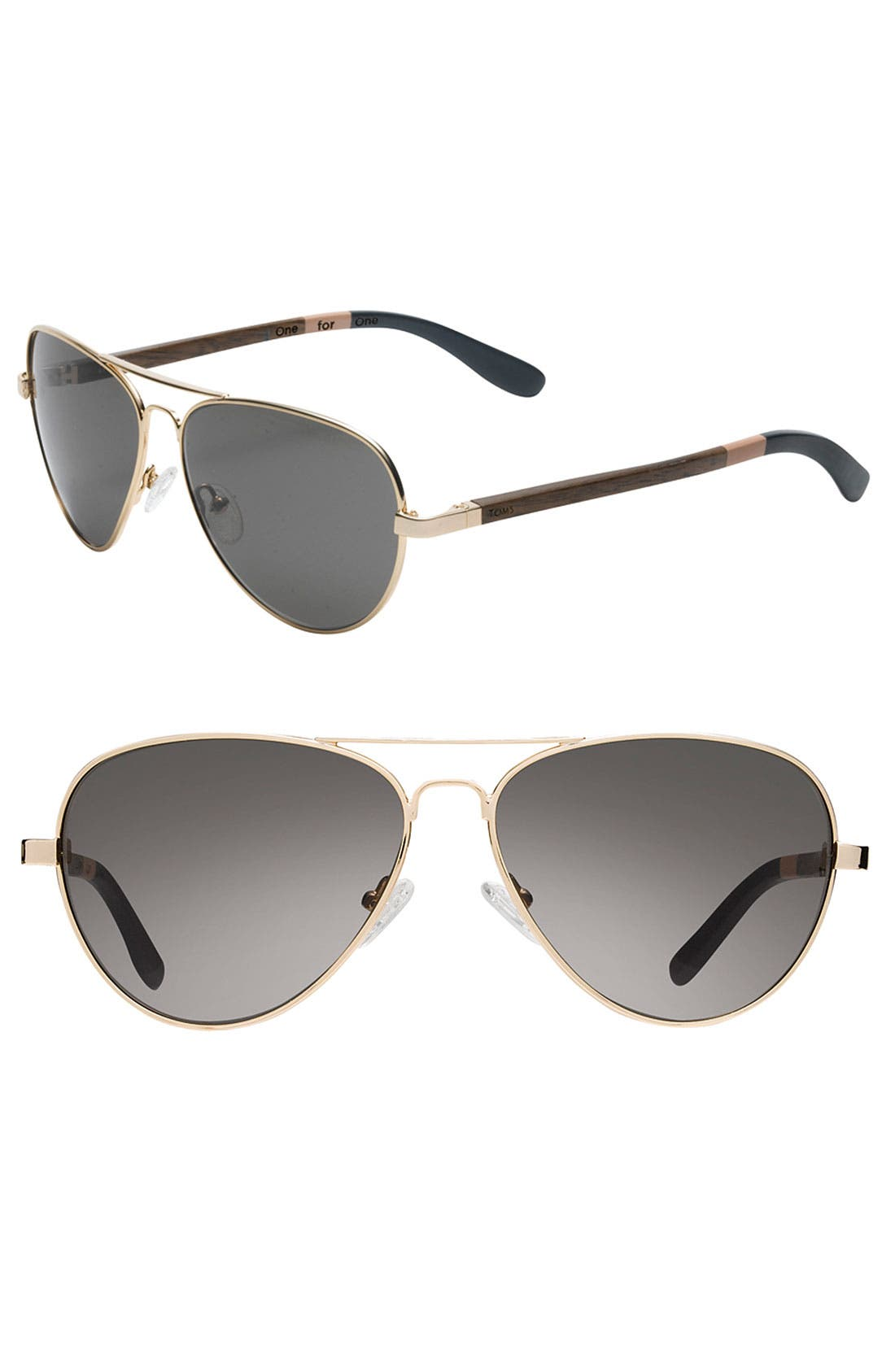 Alternate Image 1 Selected - TOMS 'Maverick' Aviator Sunglasses