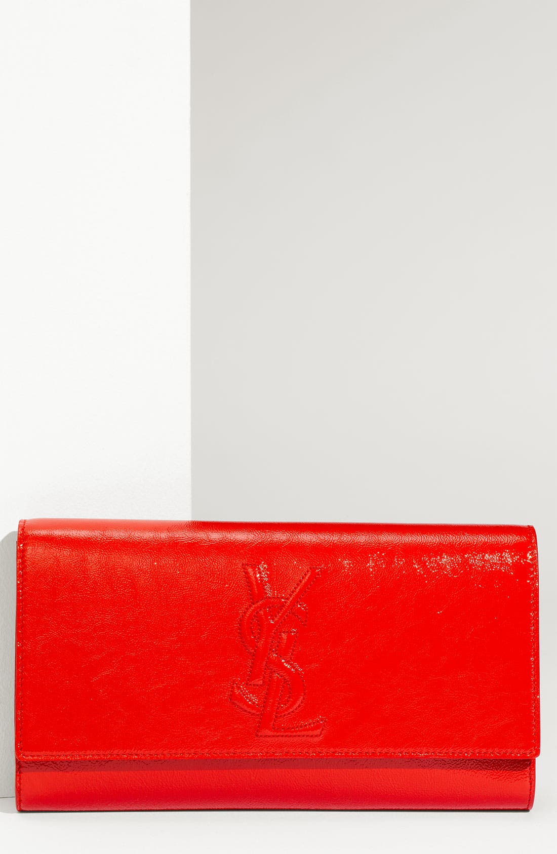 Alternate Image 1 Selected - Yves Saint Laurent 'Belle de Jour - Large' Patent Envelope Clutch