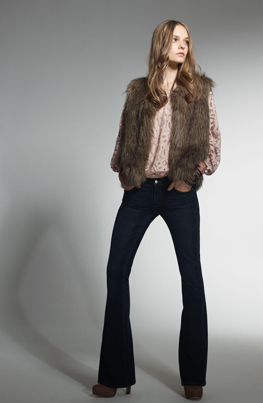 'Natalie' Faux Fur Vest,                             Alternate thumbnail 4, color,