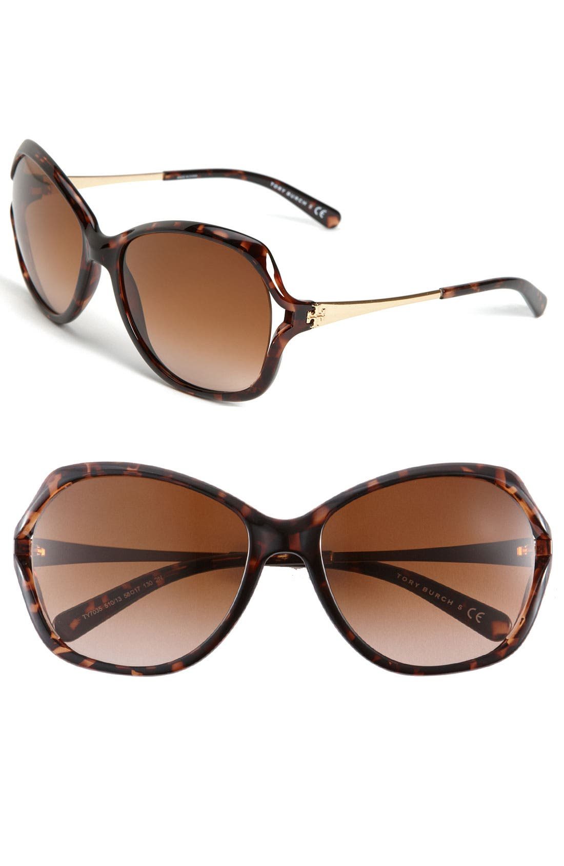 Main Image - Tory Burch 59mm Open Lens Butterfly Sunglasses