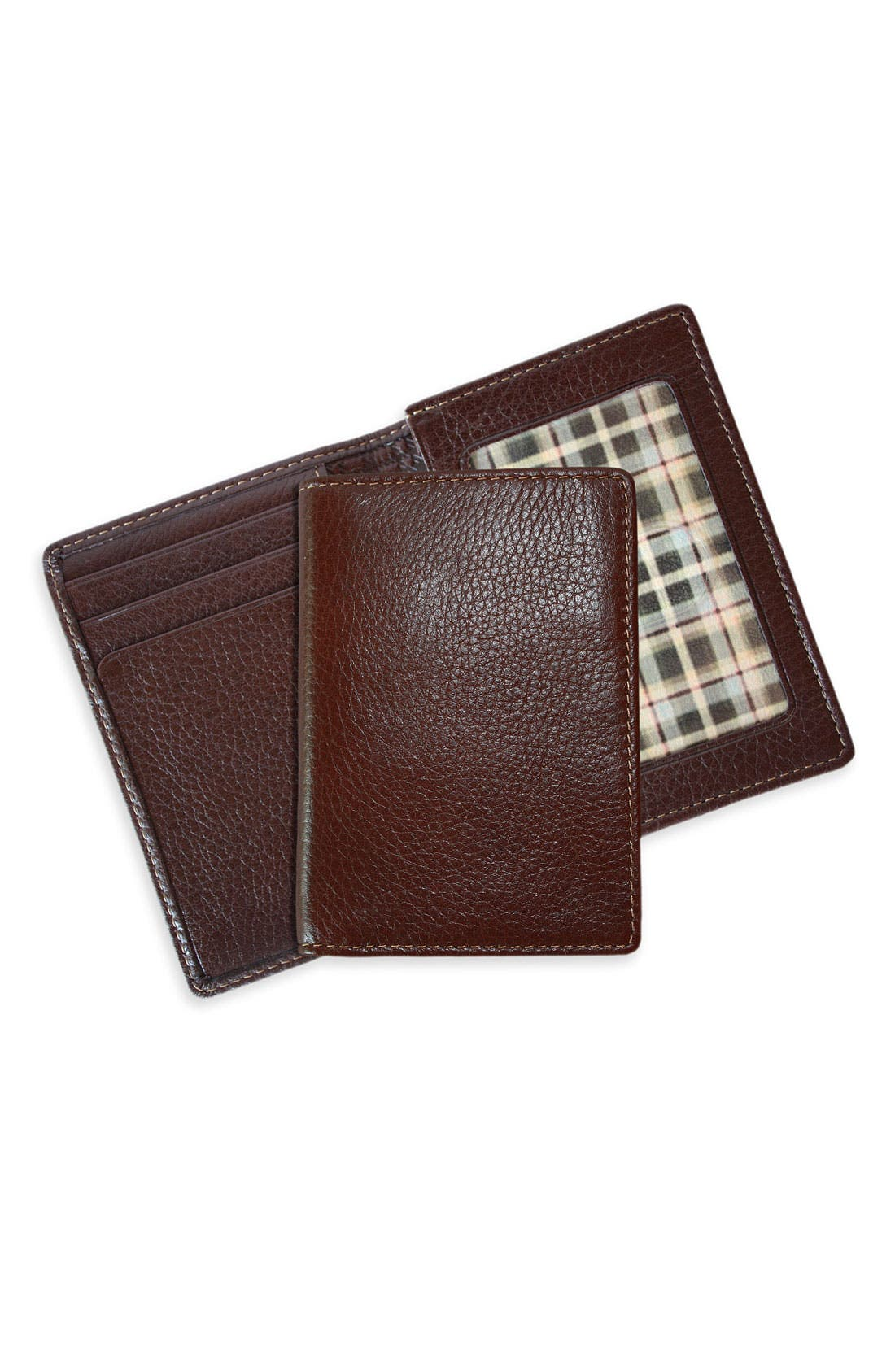 Alternate Image 1 Selected - Boconi 'Tyler' Tumbled Leather Deluxe Card Case