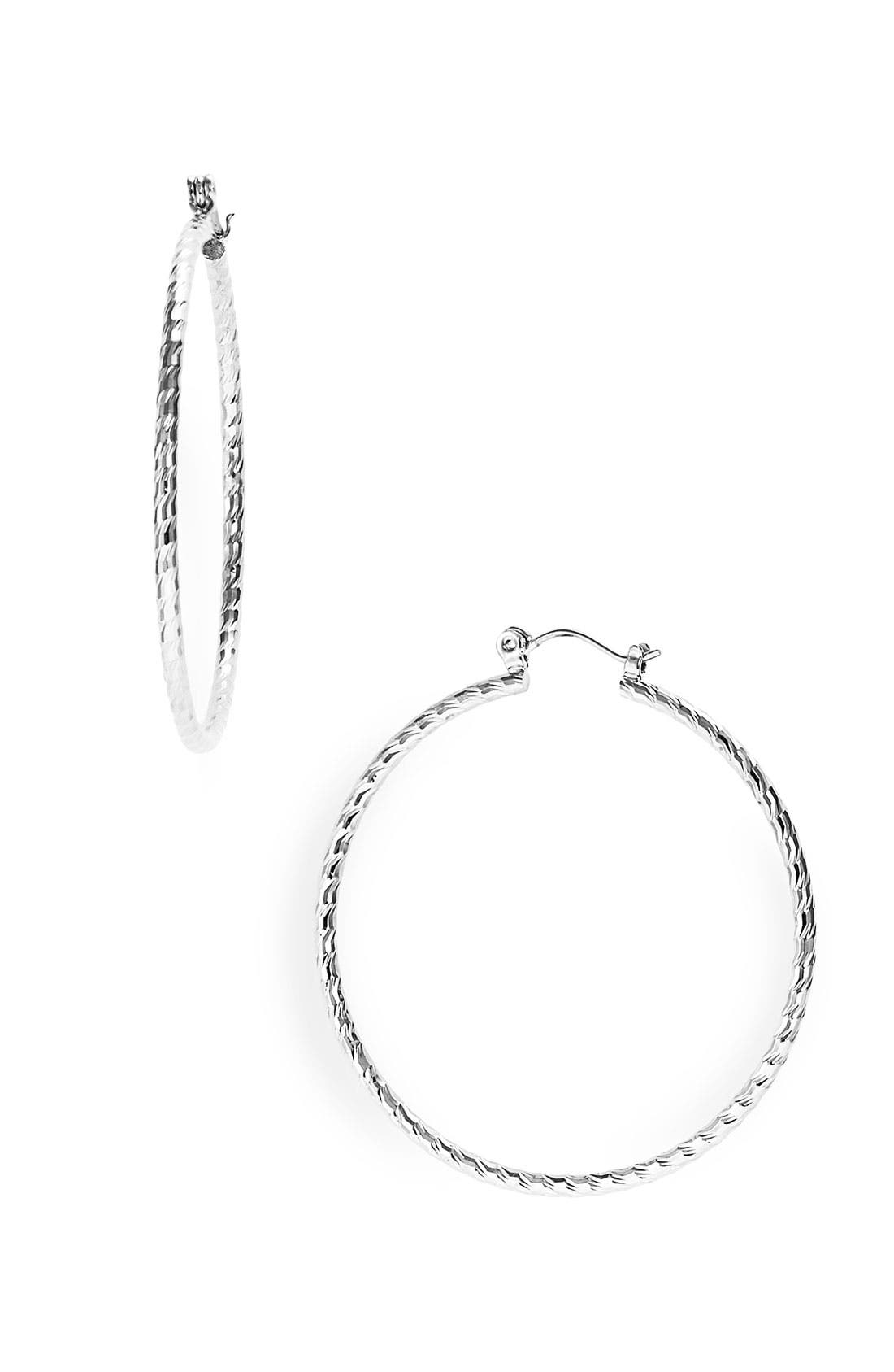Main Image - Nordstrom Twisted Medium Hoop Earrings