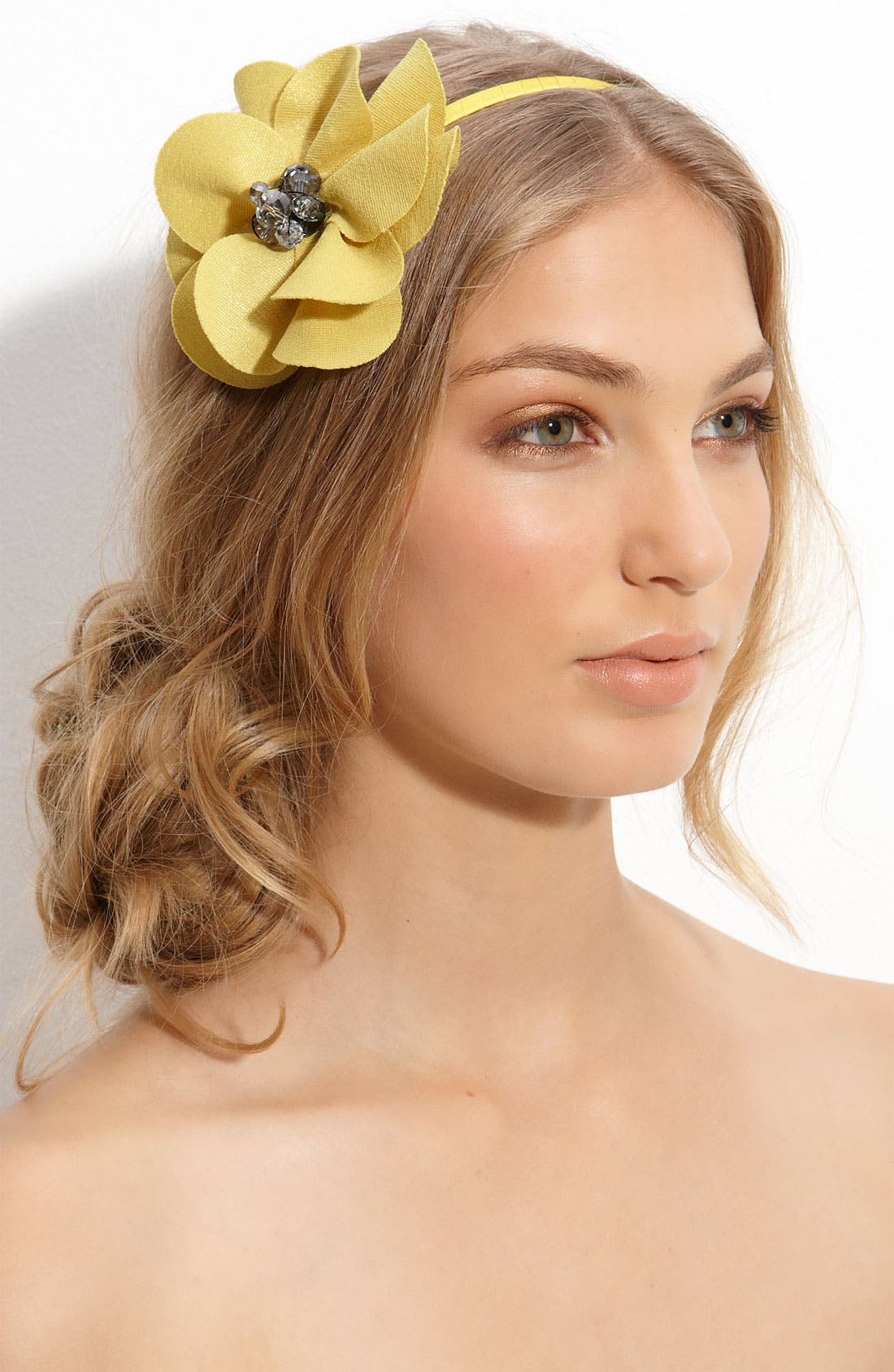 Accessories 'Lovely Lady' Flower Headband,                         Main,                         color, Yellow