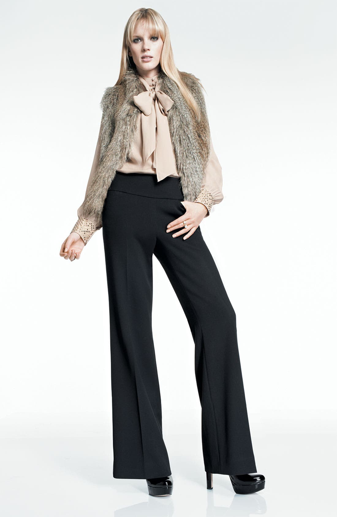 Alternate Image 2  - Vince Camuto Studded Cuff Blouse