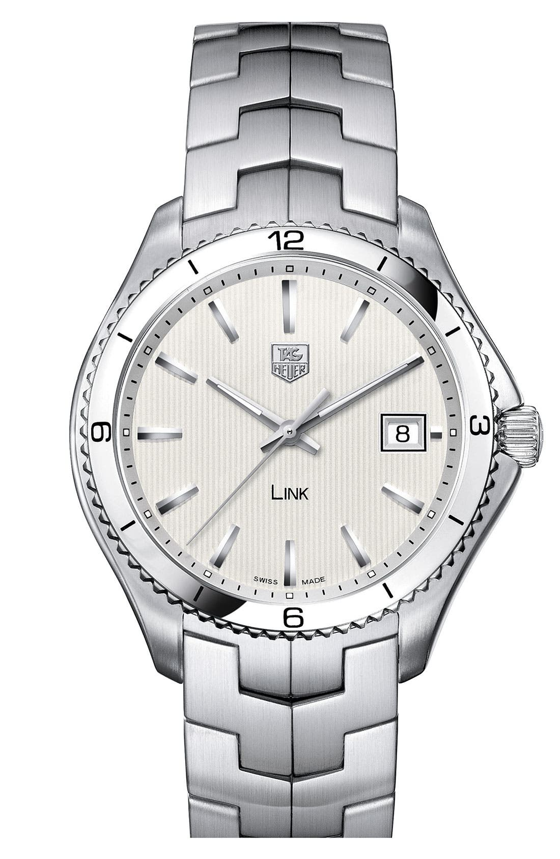 Main Image - TAG Heuer 'Link' Stainless Steel Watch
