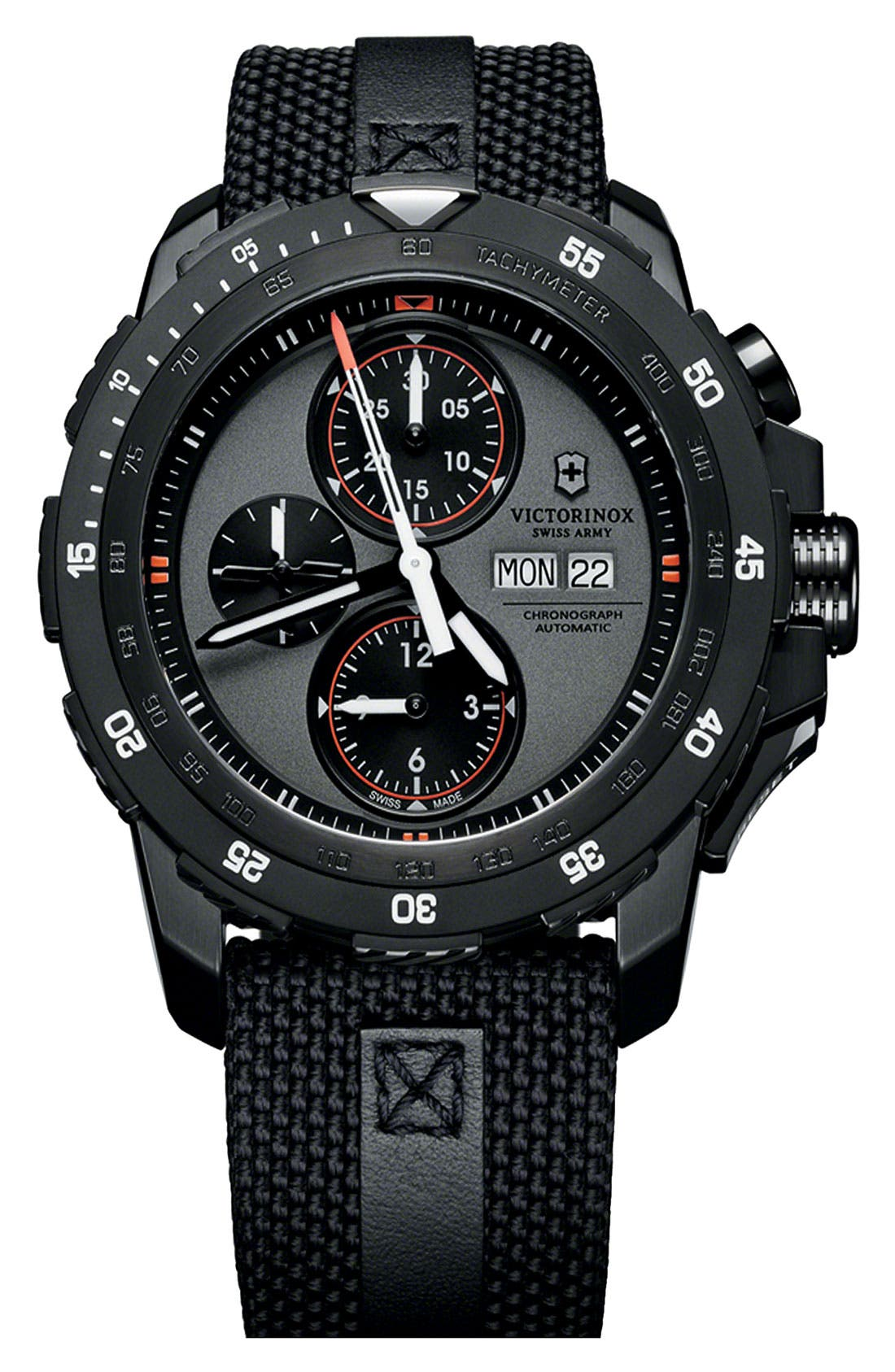 Alternate Image 1 Selected - Victorinox Swiss Army® 'Alpnach' Automatic Chronograph Watch, 44mm