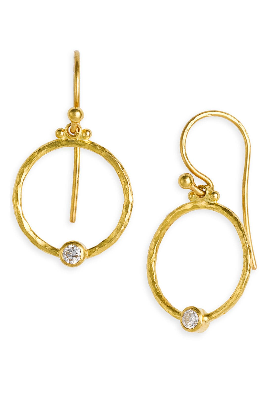 Alternate Image 1 Selected - Gurhan 'Clover' Diamond Accent Hoop Earrings