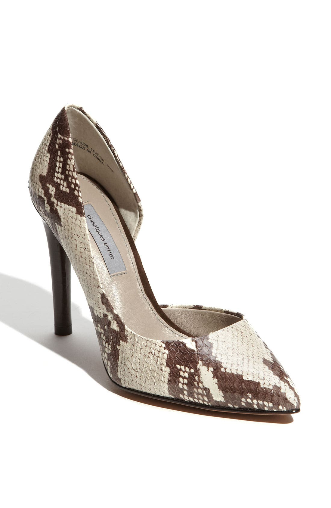 Alternate Image 1 Selected - Classiques Entier® 'Felicia' Snake Embossed Pump