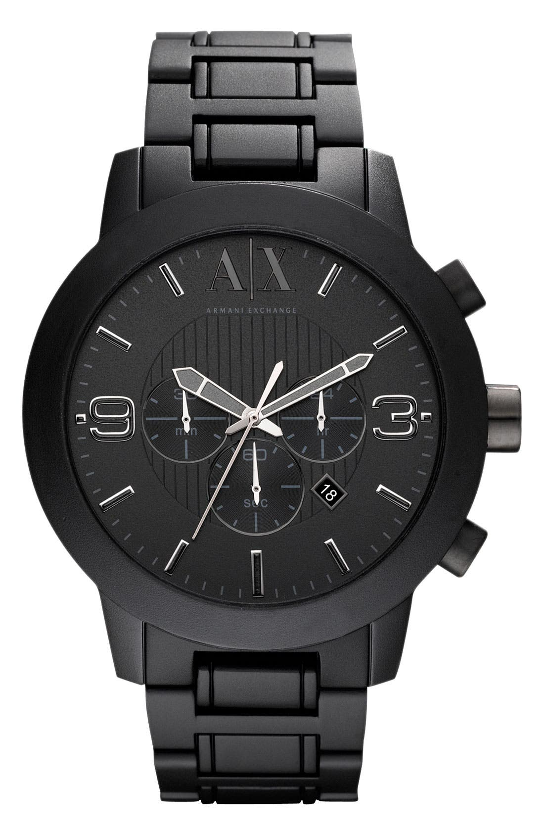 Alternate Image 1 Selected - AX Armani Exchange Aluminum Chronograph Watch