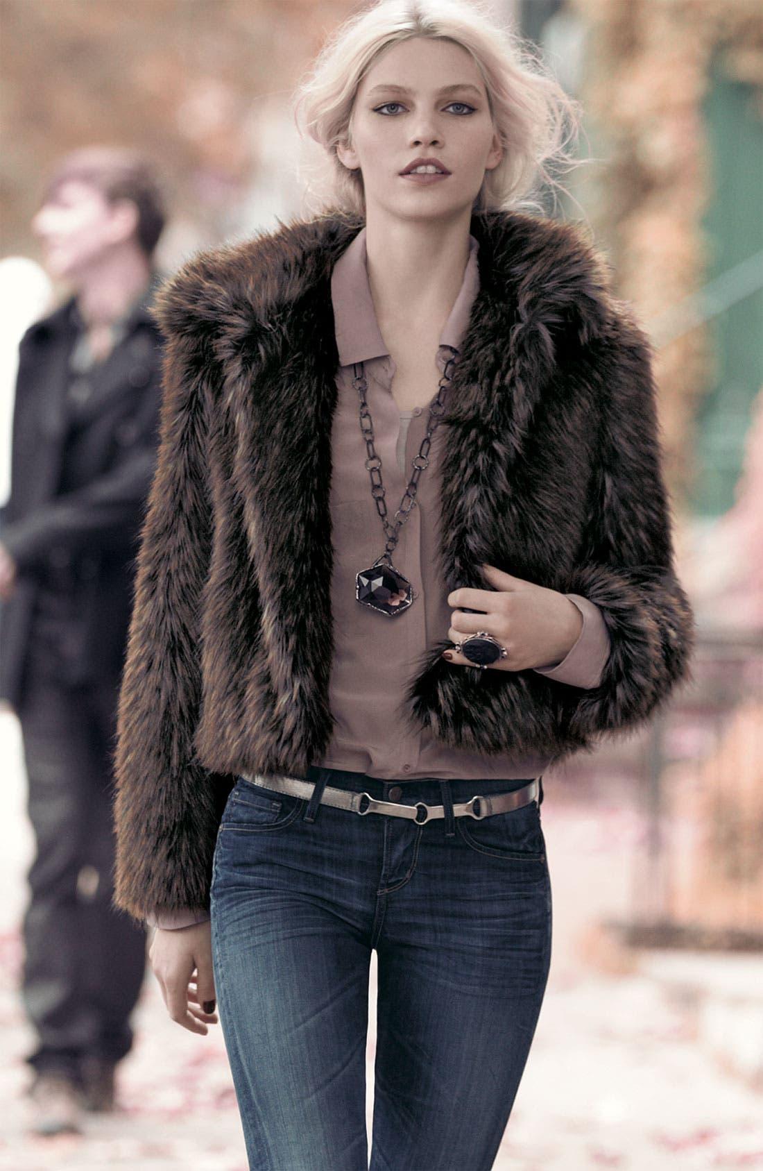 Alternate Image 2  - Gallery Faux Fur Jacket