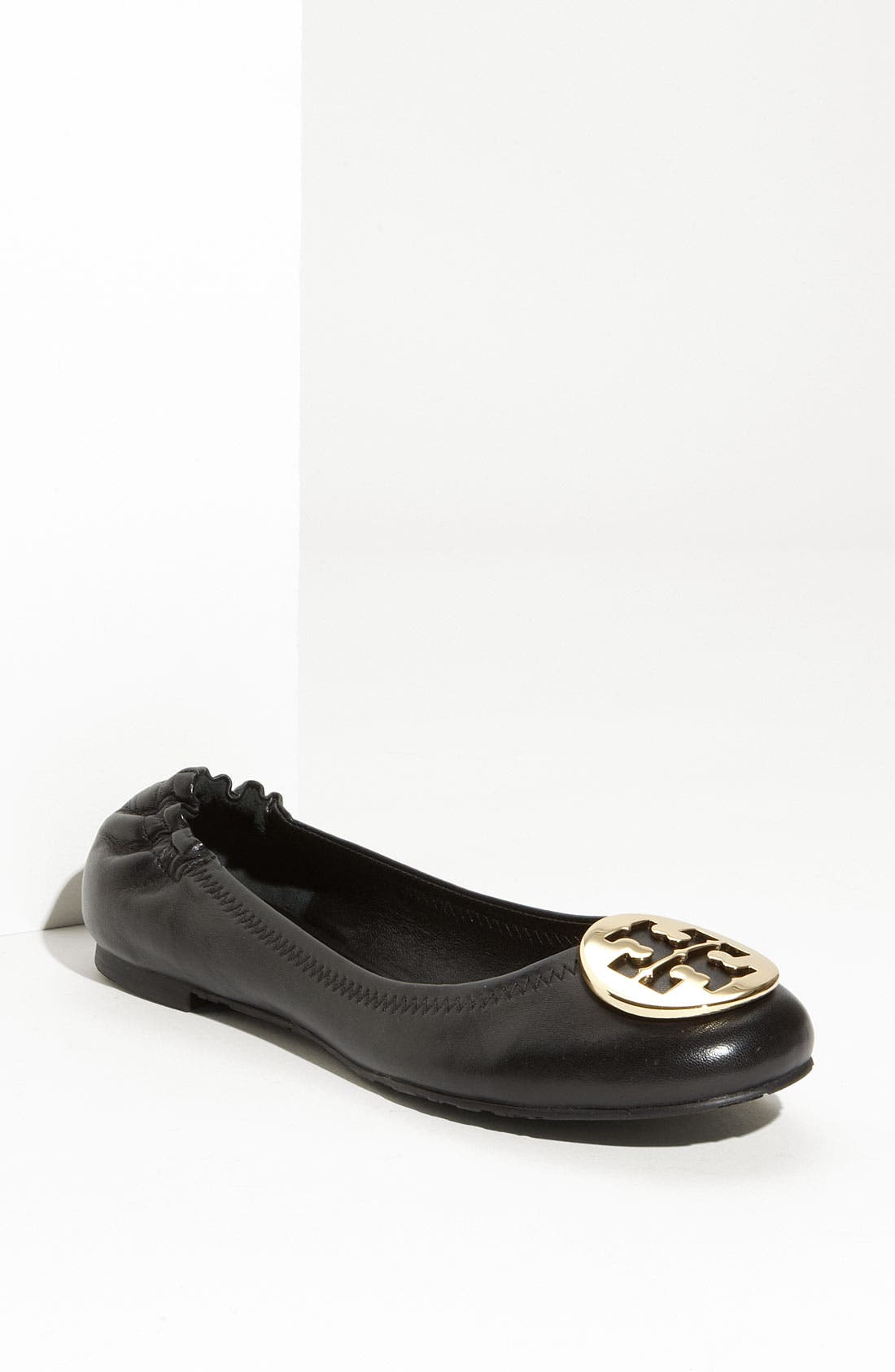 'Reva' Ballerina Flat,                         Main,                         color, Black