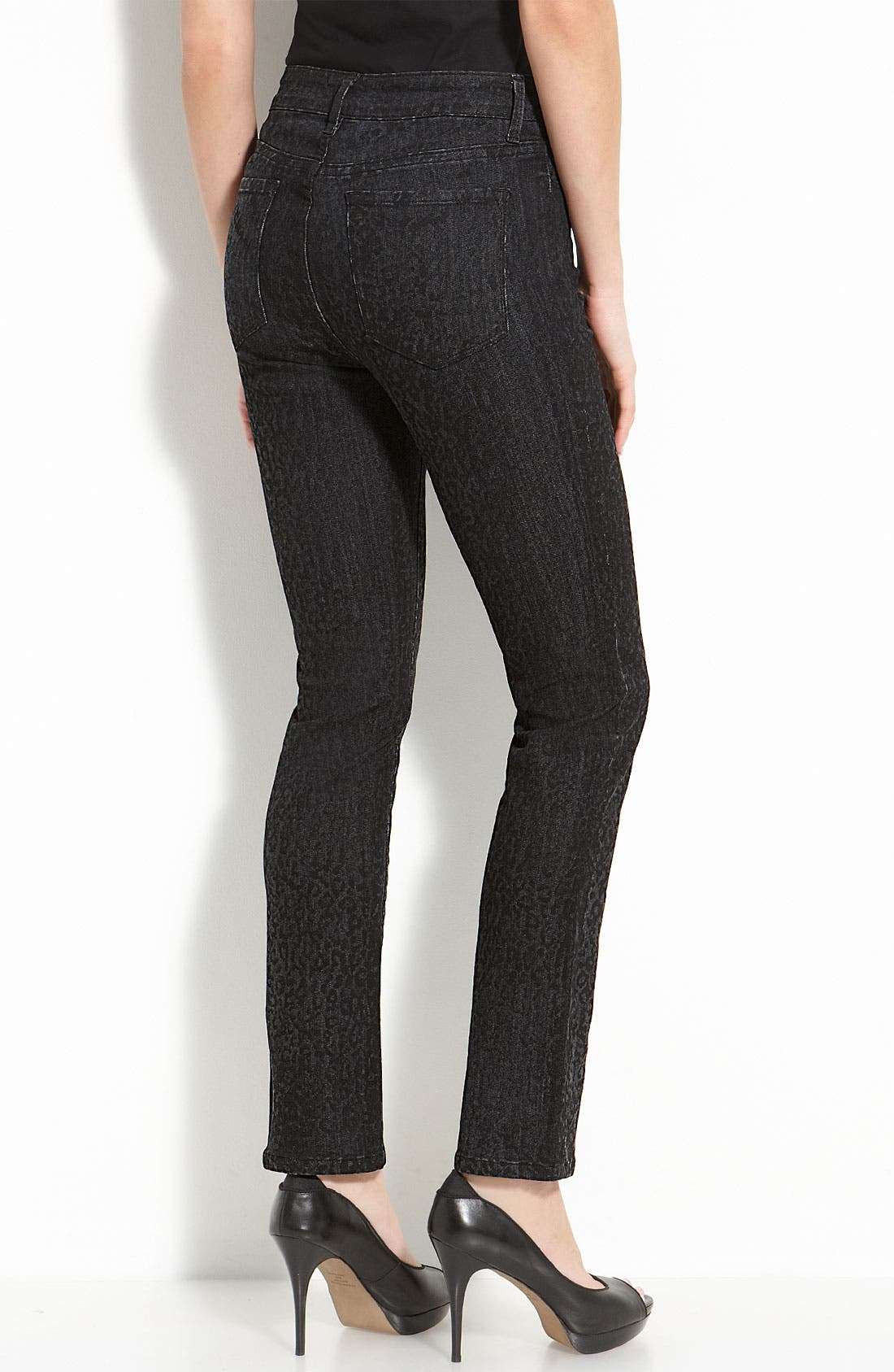 Alternate Image 2  - Not Your Daughter's Jeans® 'Sheri' Patterned Skinny Stretch Jeans (Plus)