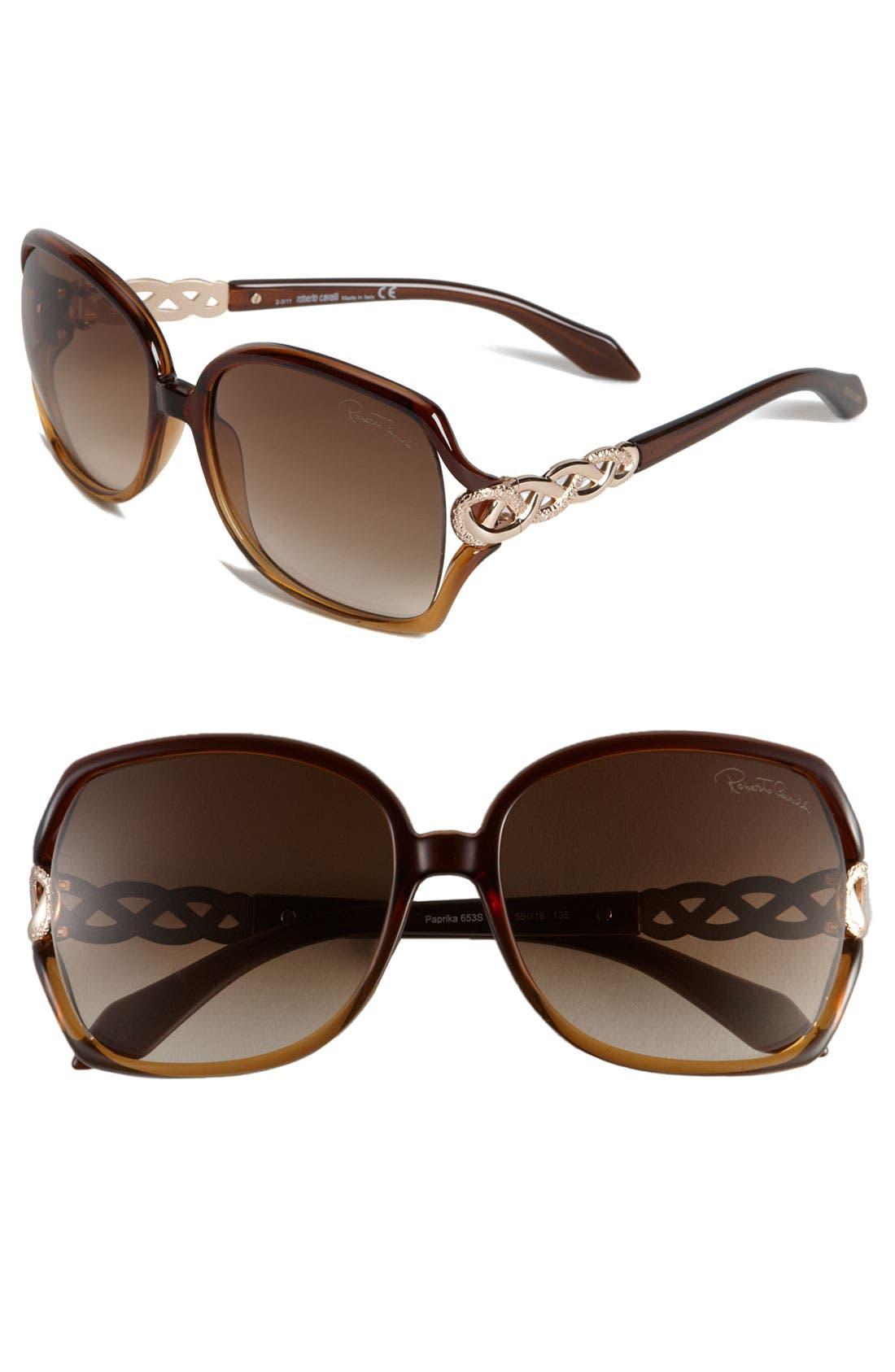 Main Image - Roberto Cavalli Oversized Sunglasses