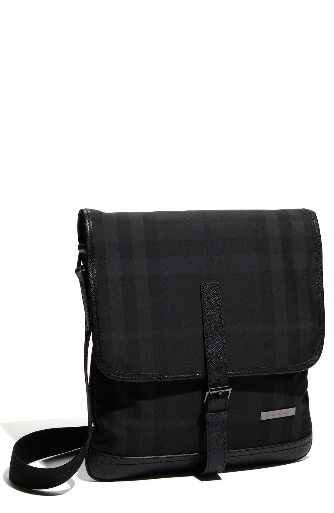 Main Image - Burberry Check Print Crossbody Bag