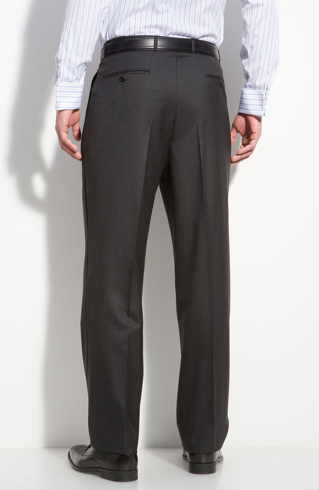 A Fit Wool Suit,                             Alternate thumbnail 5, color,                             Grey