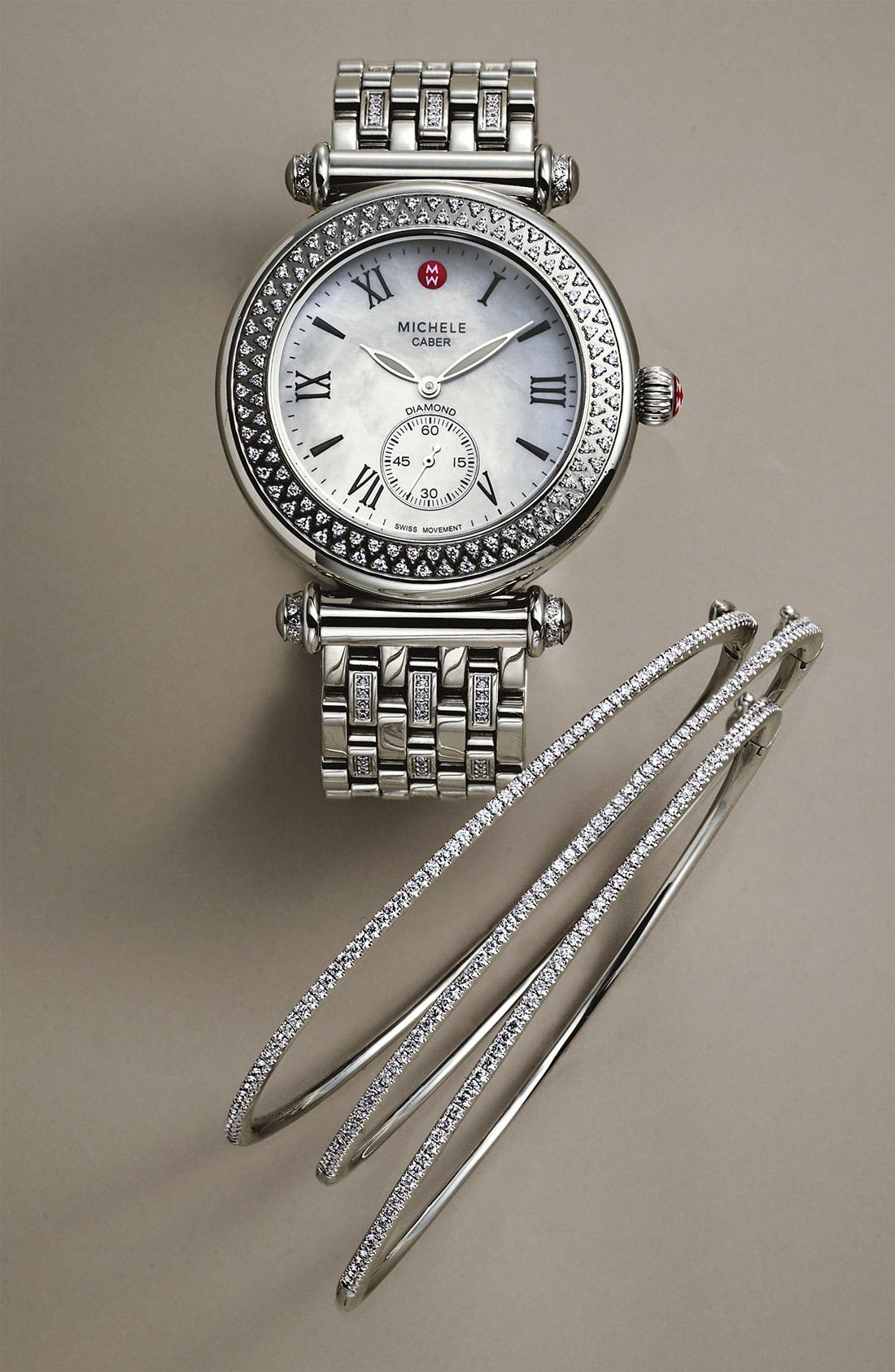 Alternate Image 3  - MICHELE 'Caber' Diamond Gold Watch Case, 38mm