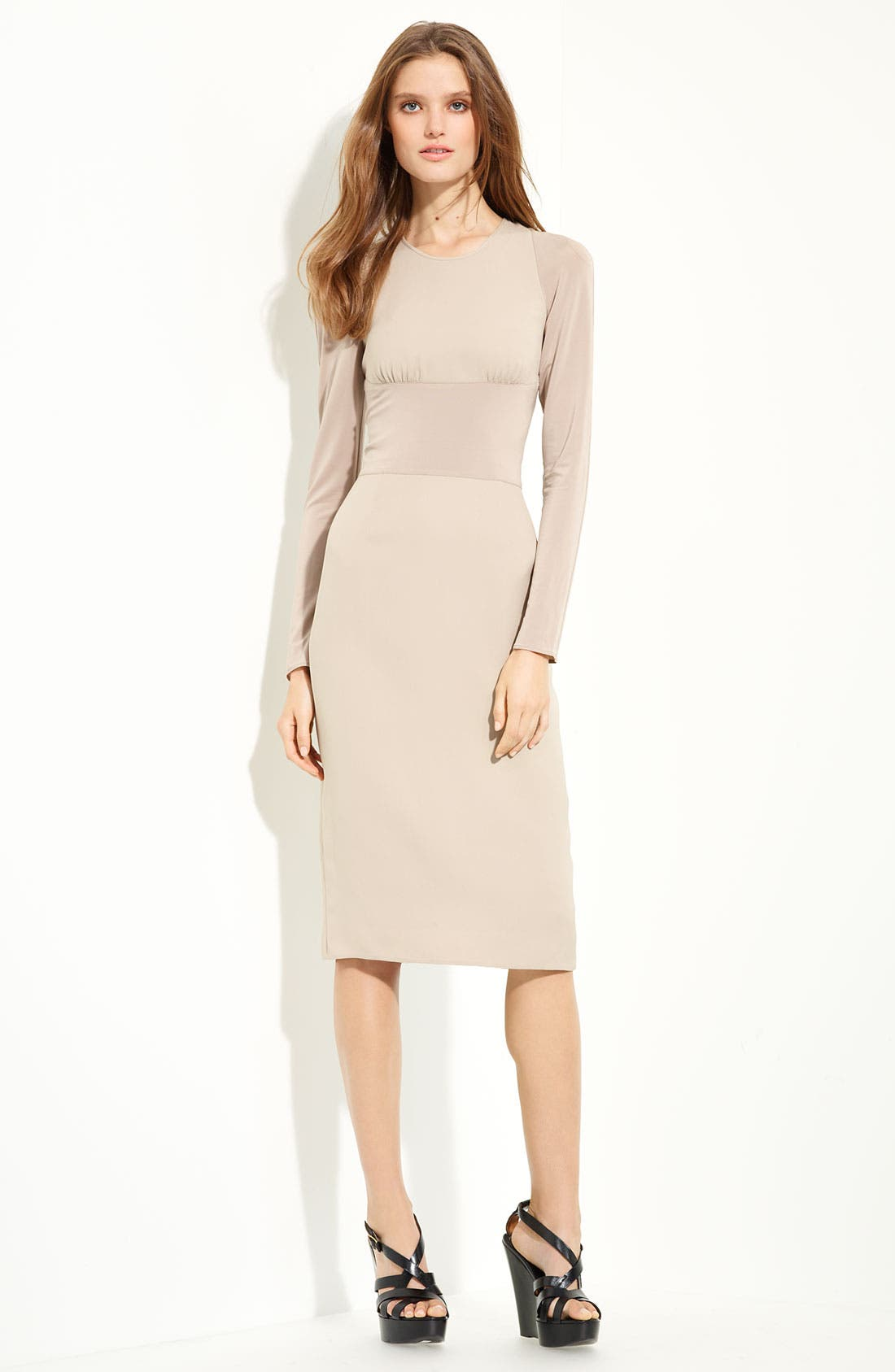 Main Image - Burberry London Long Sleeve Georgette Dress