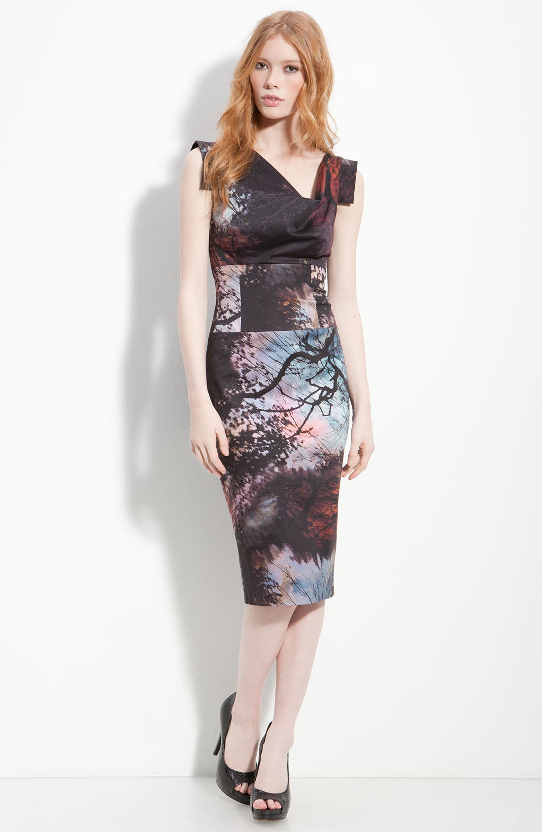 Alternate Image 3  - Black Halo 'Jackie' Print Pencil Dress