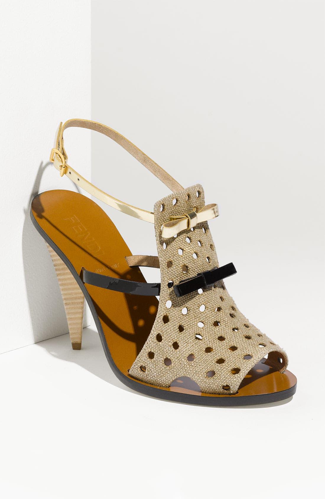Alternate Image 1 Selected - Fendi Double Bow Sandal