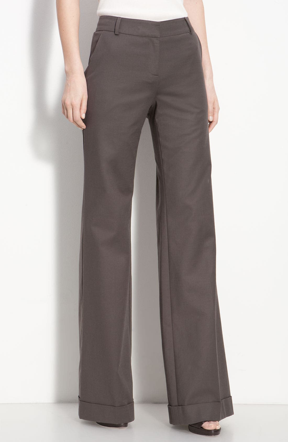 Main Image - St. John Collection Cuffed Wide Leg Pants