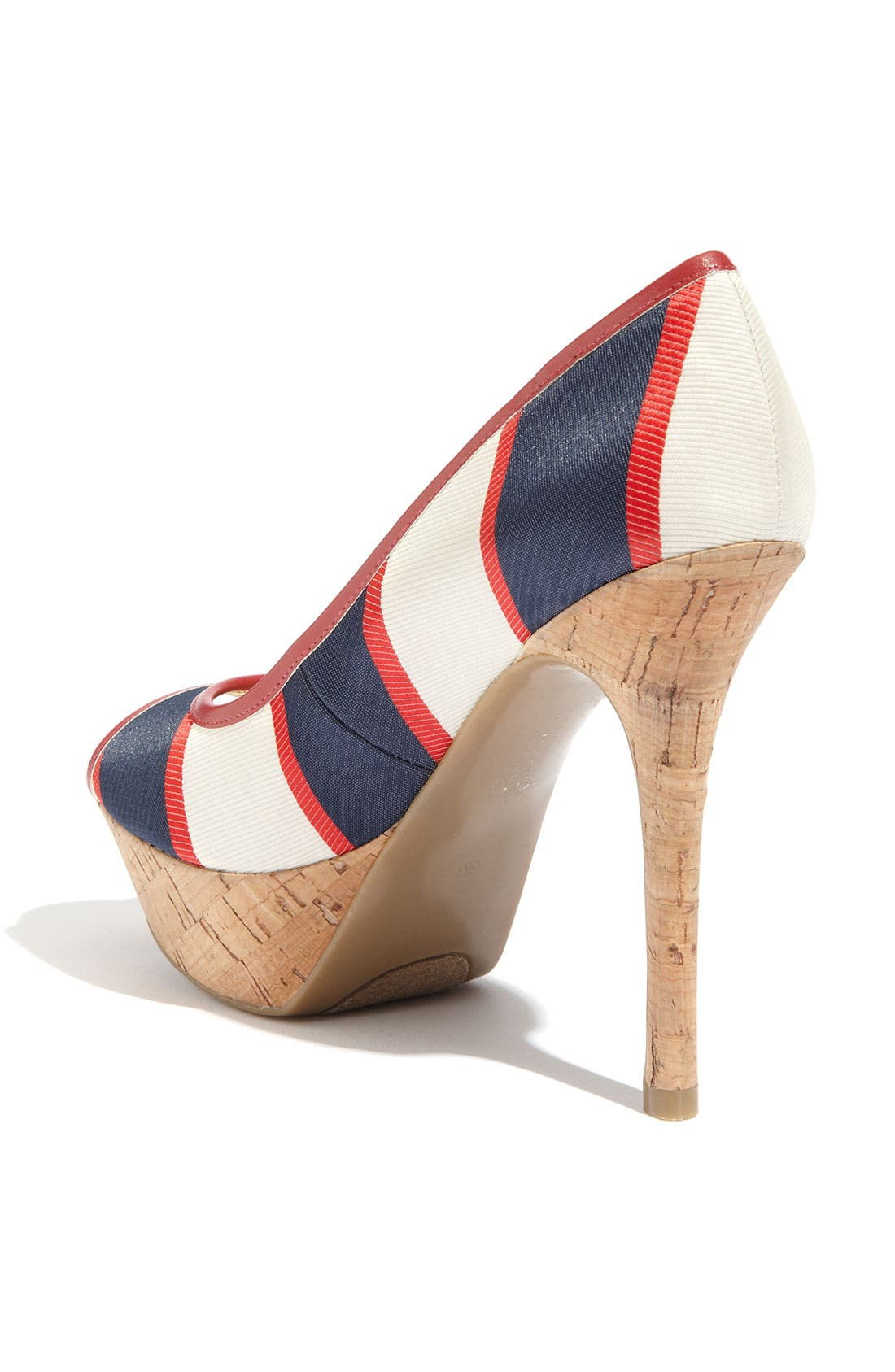 'Nanci' Pump,                             Alternate thumbnail 2, color,                             Multi Red Stripe