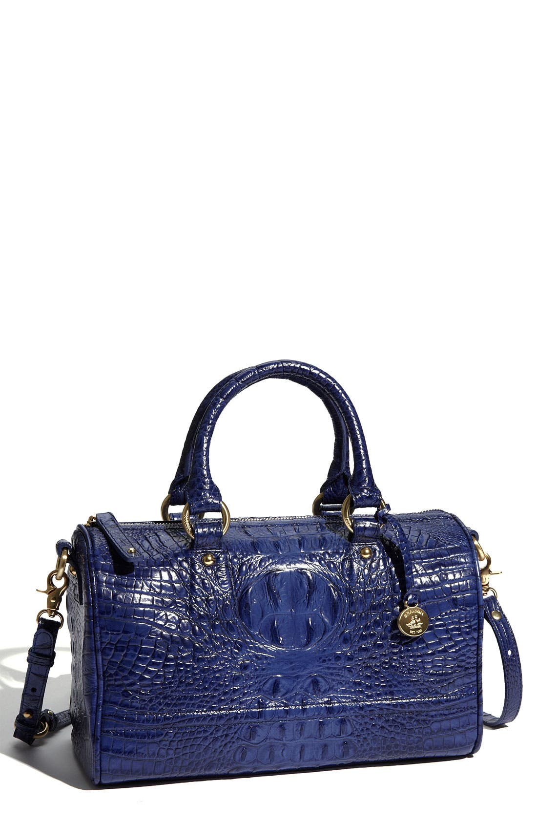 Main Image - Brahmin 'Sadie' Croc Embossed Leather Satchel