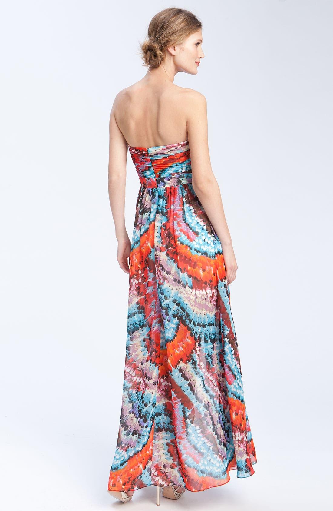 Alternate Image 2  - Aidan Mattox Strapless Chiffon dress