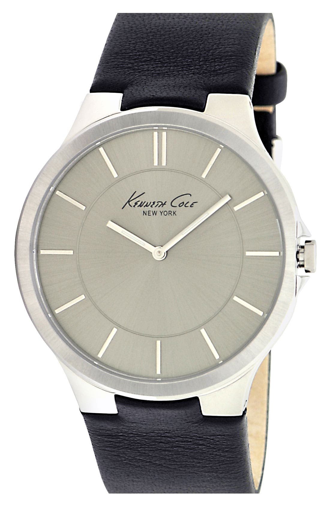 Main Image - Kenneth Cole New York Round Dial Strap Watch