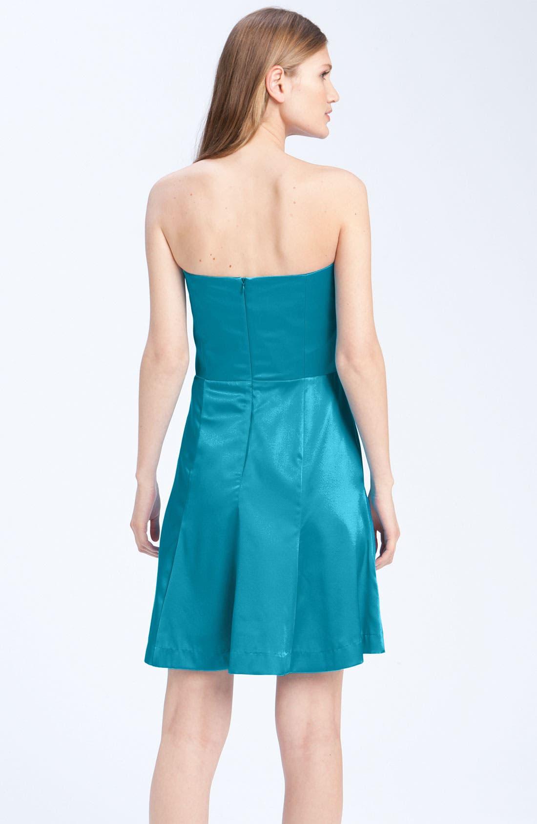 Alternate Image 3  - Anna Elyse Bridesmaids Strapless Charmeuse Dress