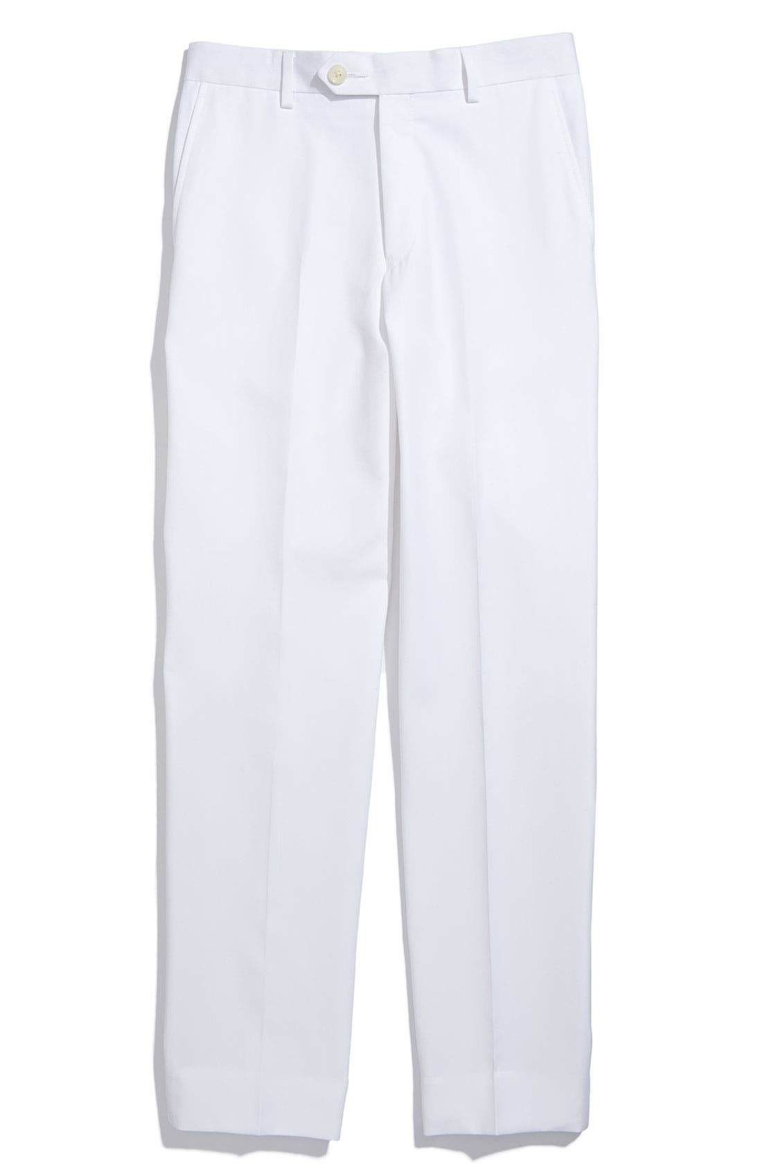 Alternate Image 1 Selected - Joseph Abboud Flat Front Dress Pants (Little Boys, Big Boys & Husky)