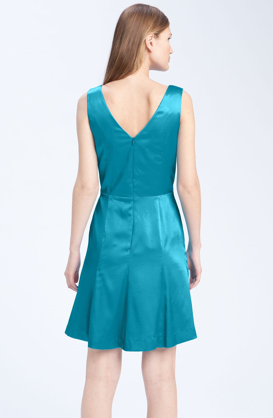 Alternate Image 2  - Anna Elyse Bridesmaids Drape Neck Charmeuse Dress