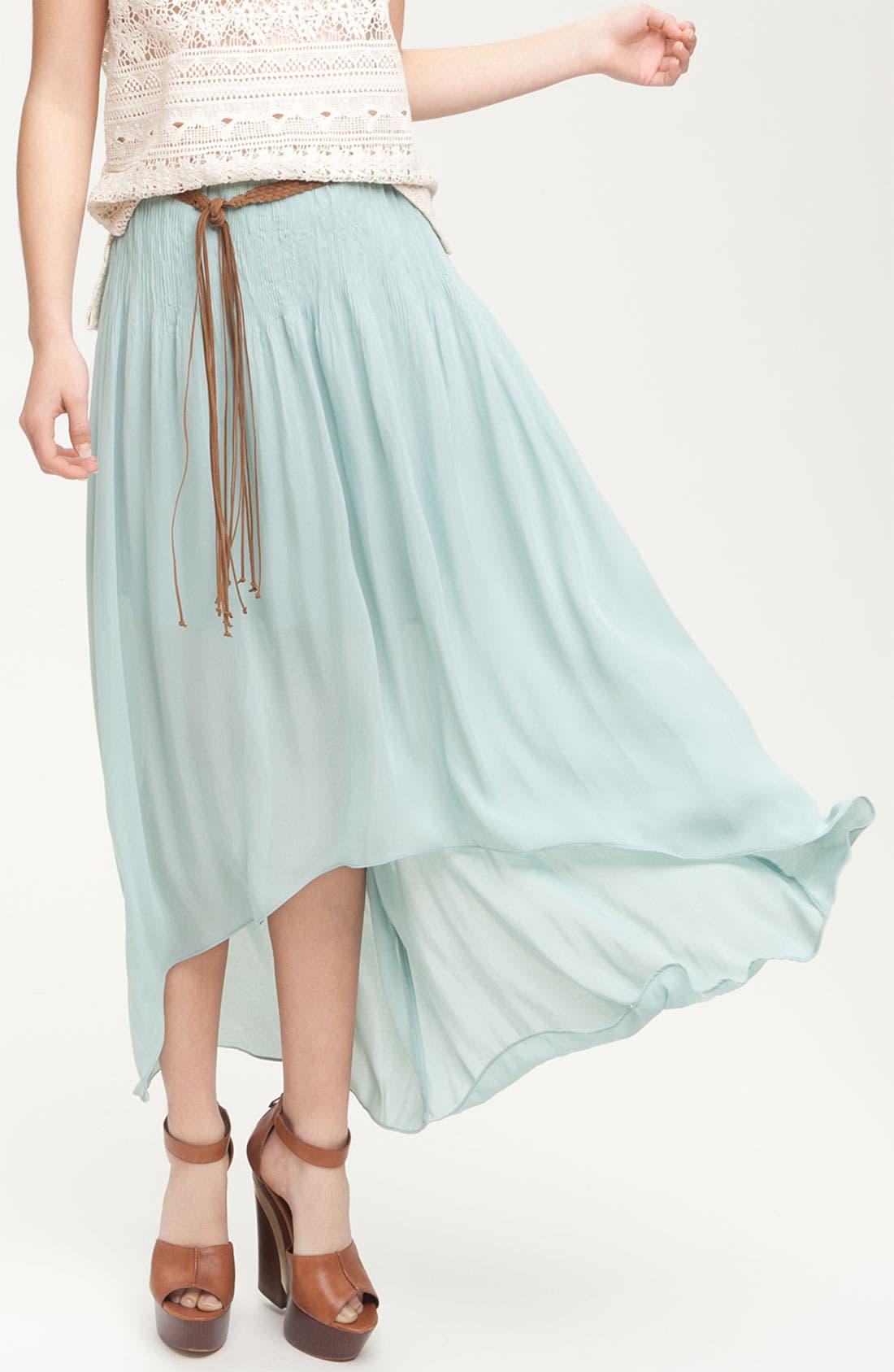 Main Image - Sanctuary 'Leotie' Crinkled Asymmetric Maxi Skirt