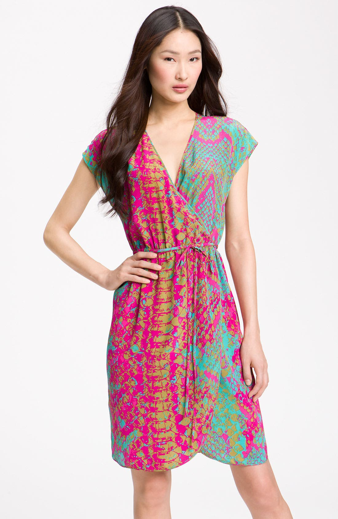 Main Image - Presley Skye Snake Print Silk Crêpe de Chine Dress