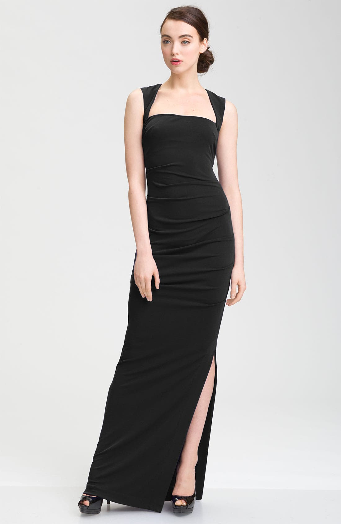 Alternate Image 1 Selected - Nicole Miller Open Back Jersey Gown