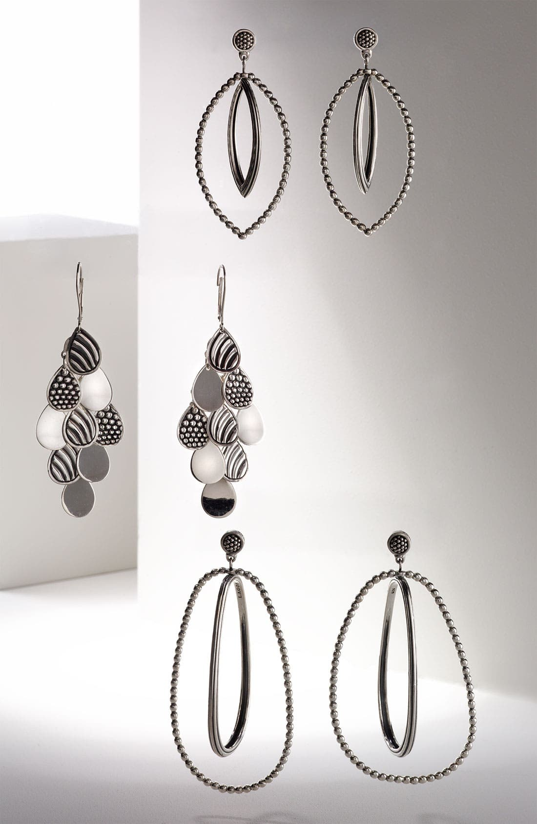 Alternate Image 3  - LAGOS Caviar Oval Twist Statement Earrings