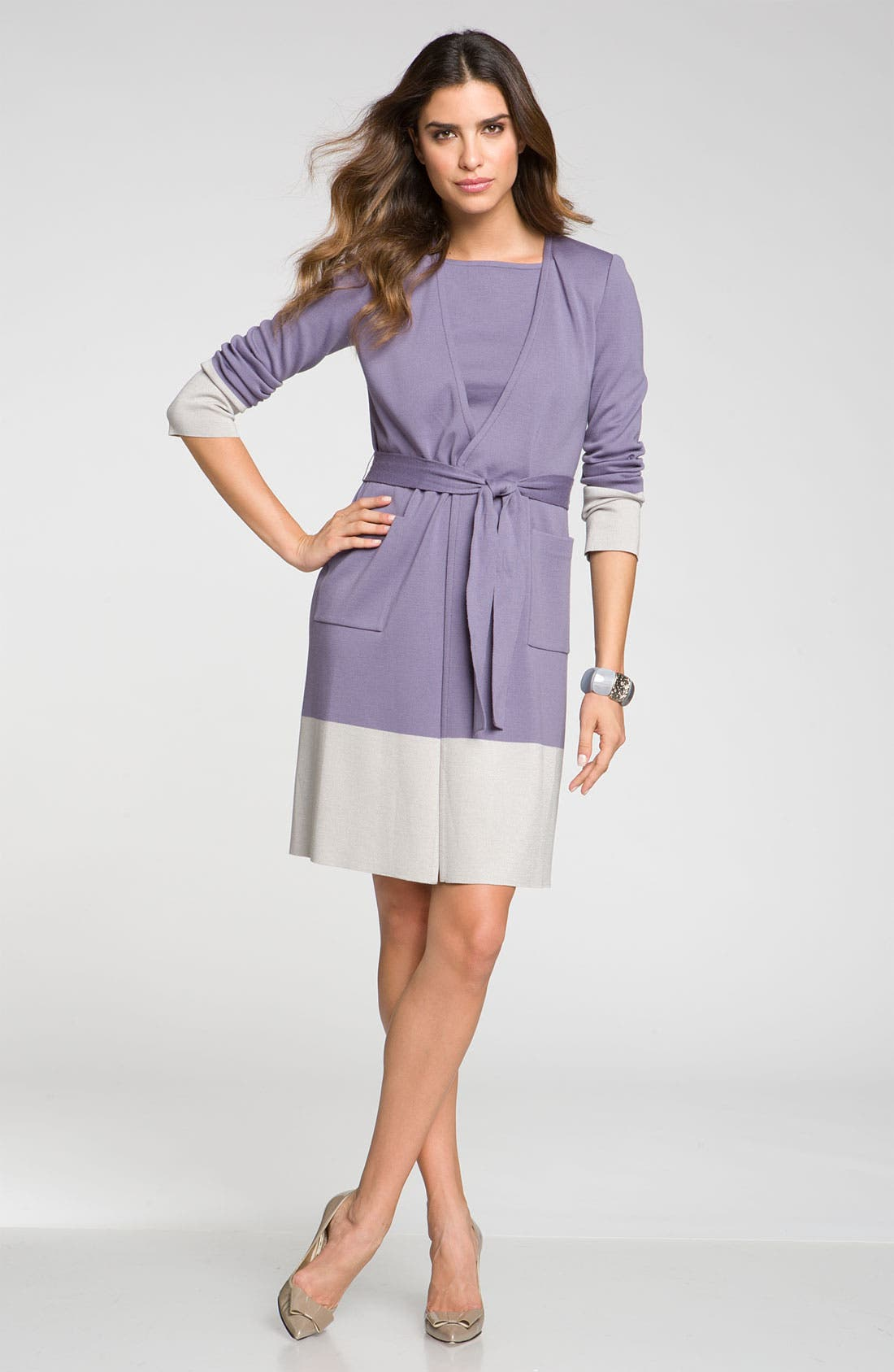 Alternate Image 4  - St. John Collection Colorblock Milano Knit Sheath Dress