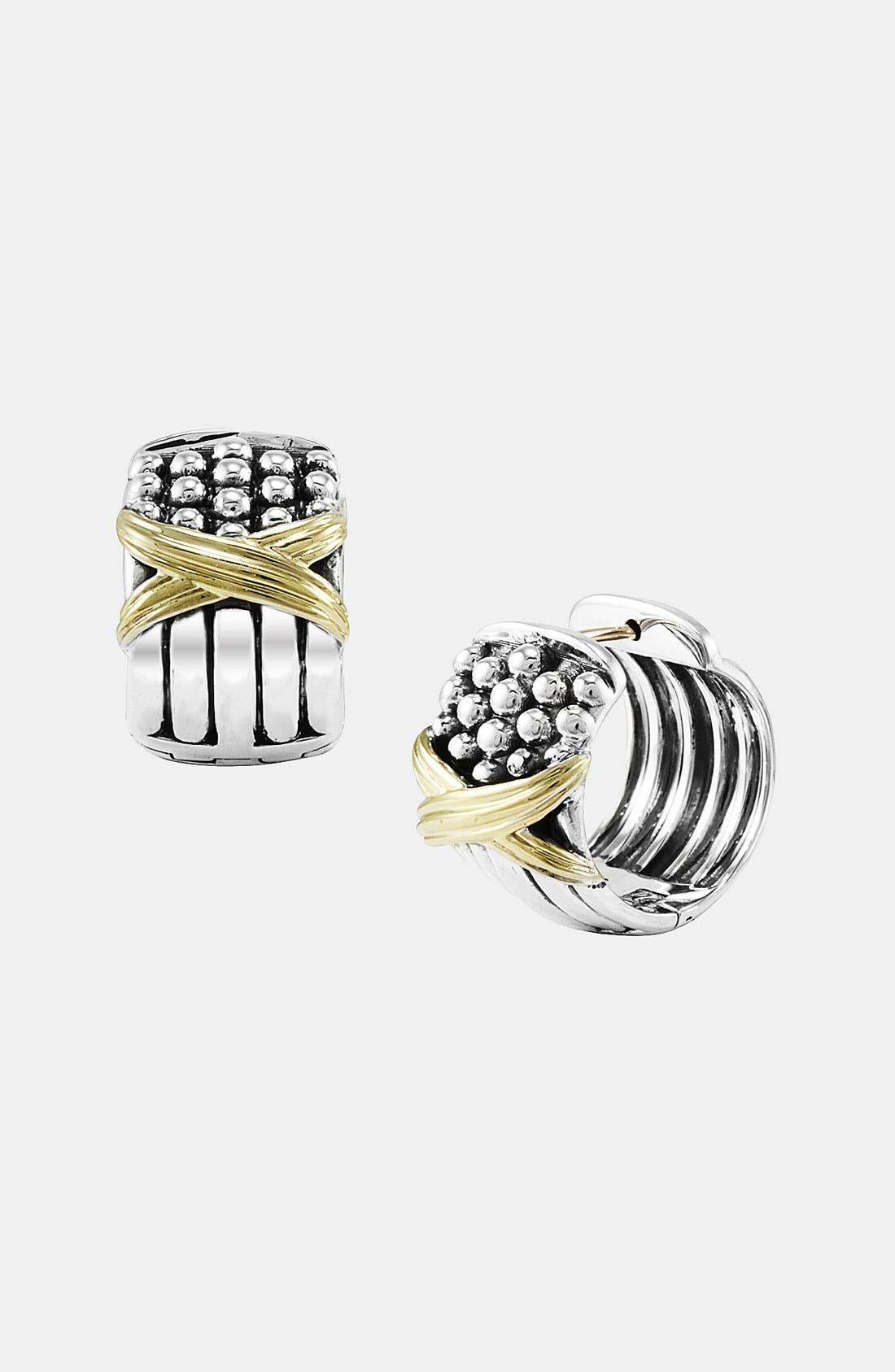 Alternate Image 1 Selected - LAGOS 'X' Caviar Hoop Earrings