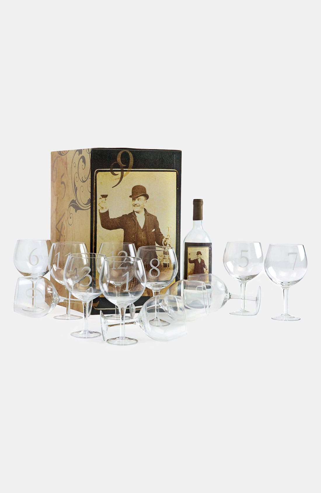 Alternate Image 1 Selected - 'Numerology' Wine Glasses (Set of 12)