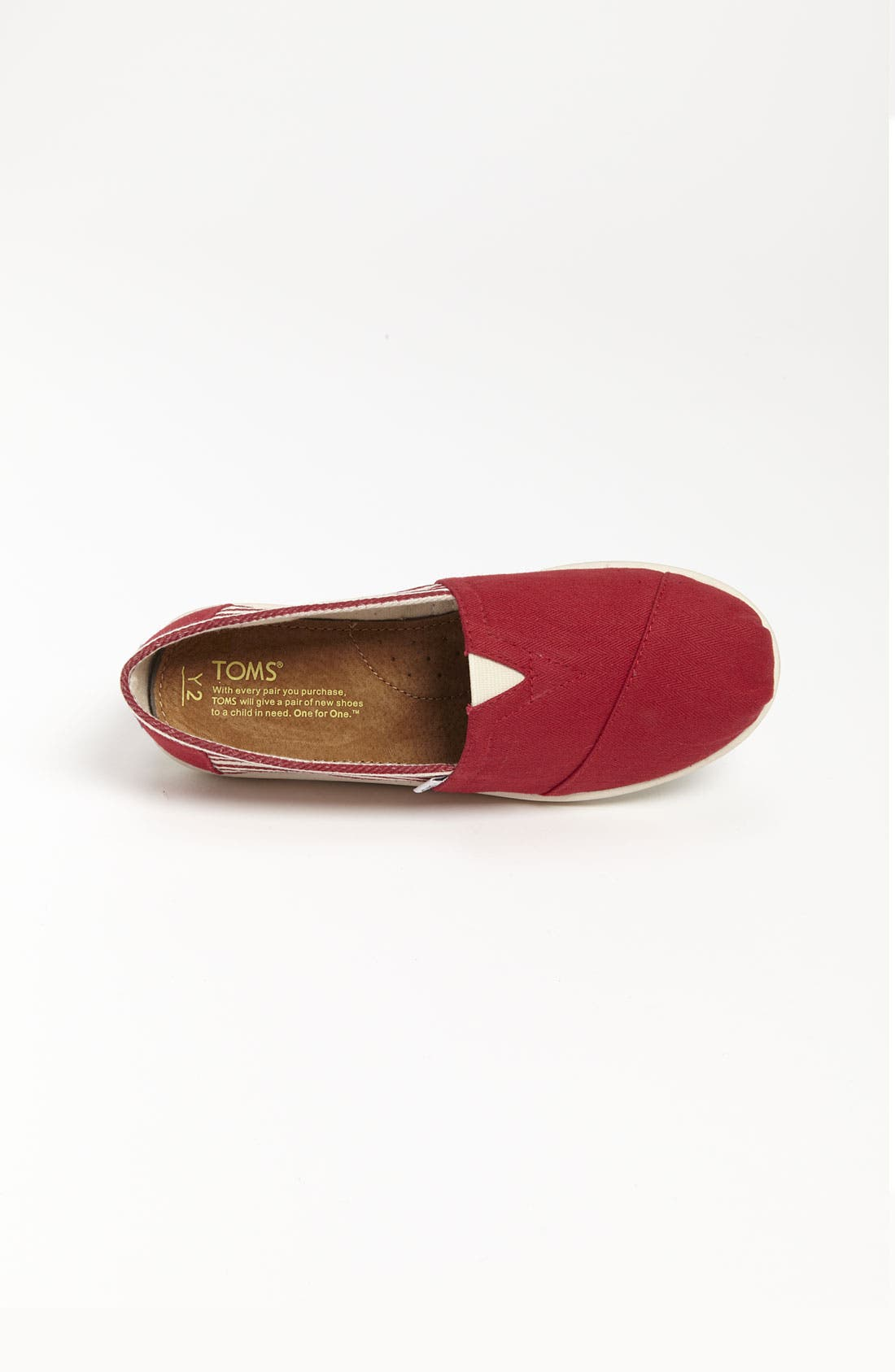 Alternate Image 3  - TOMS 'Classic Youth - University' Canvas Slip-On (Toddler, Little Kid & Big Kid) (Nordstrom Exclusive)