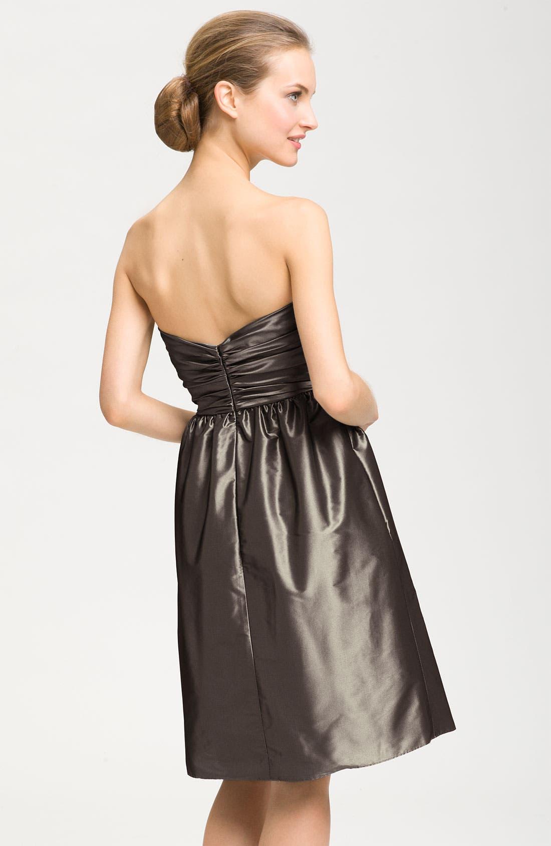 Alternate Image 2  - Amsale Strapless Taffeta Dress