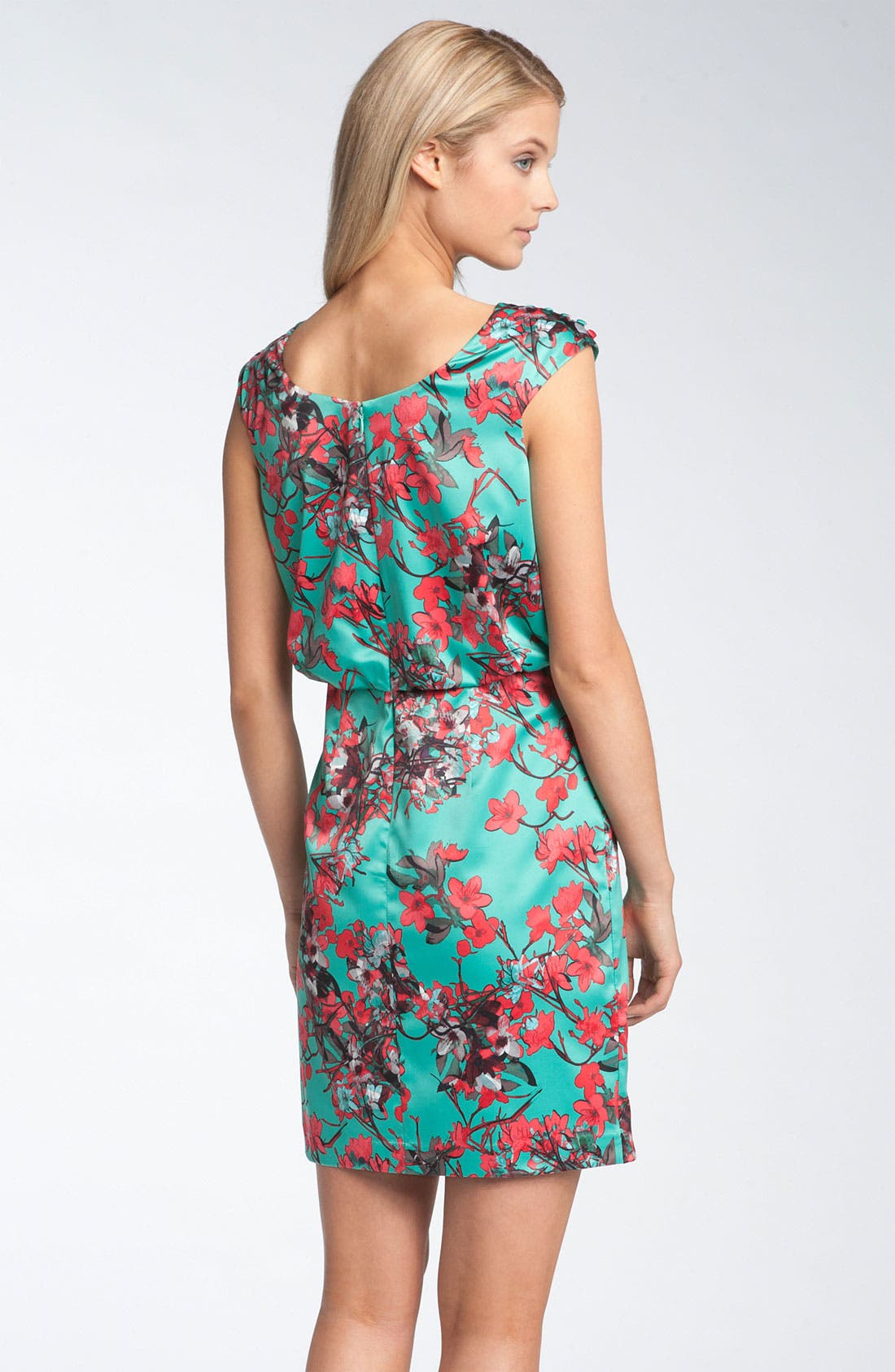 Alternate Image 2  - Jessica Simpson Button Sleeve Satin Dress