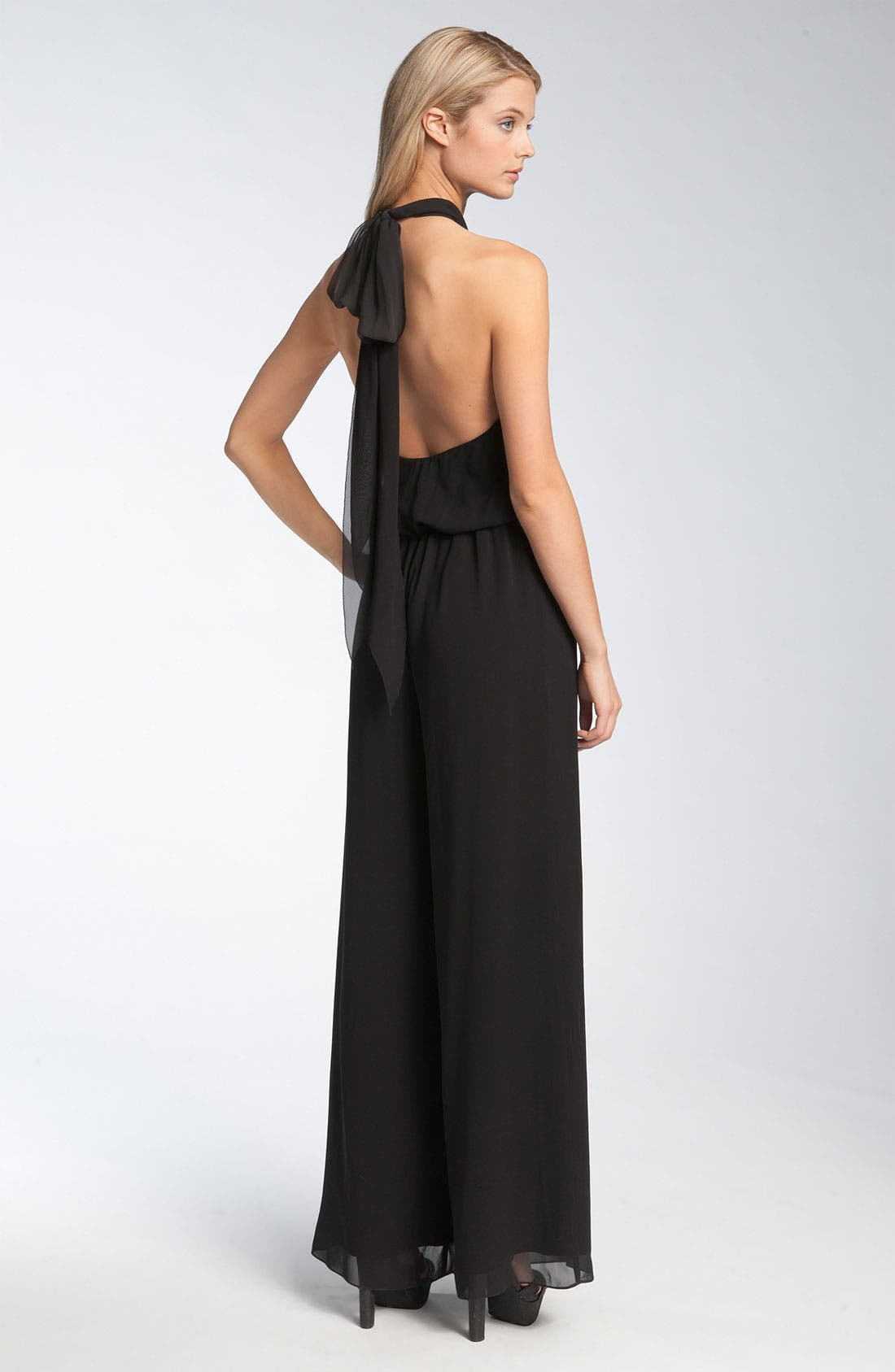 Alternate Image 2  - Nicole Miller Silk Halter Jumpsuit