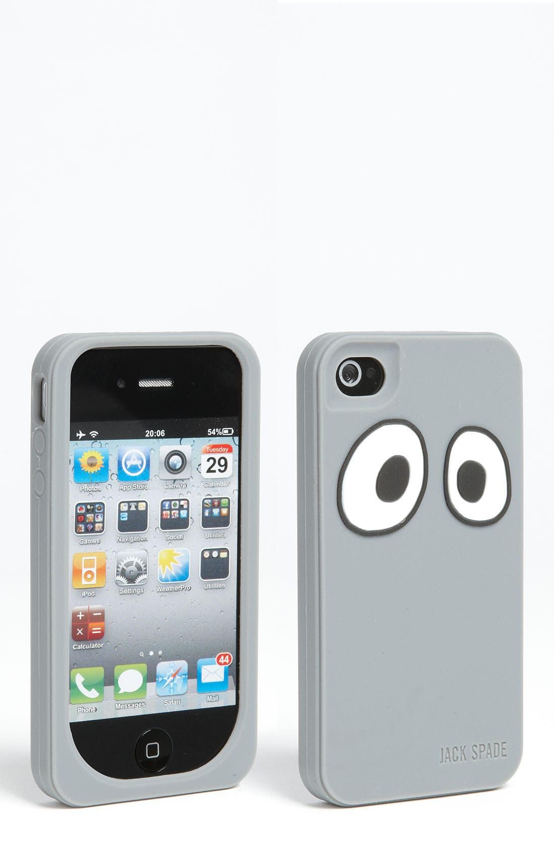 Alternate Image 1 Selected - Jack Spade 'Eyes' iPhone 4 Case