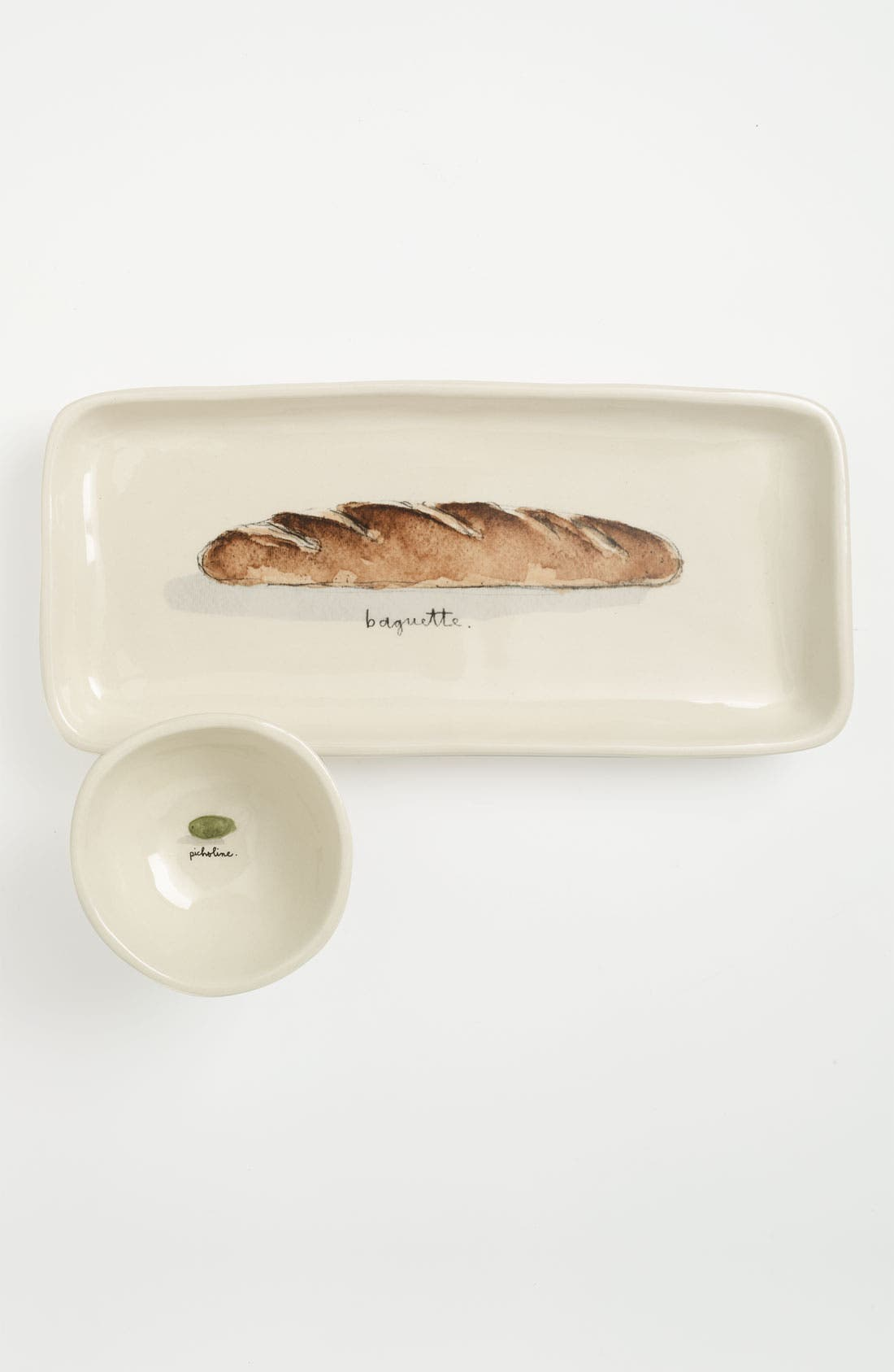 Main Image - Rae Dunn by Magenta Baguette Tray & Olive Bowl